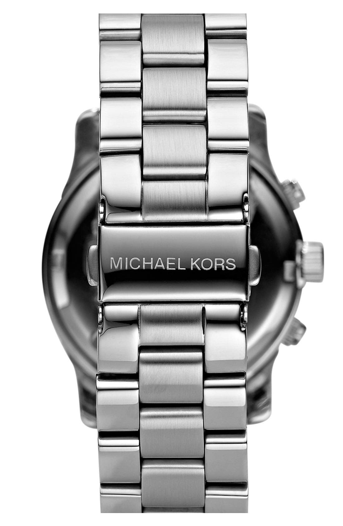 Alternate Image 2  - Michael Kors 'Runway' Mother of Pearl Chronograph Watch, 38mm