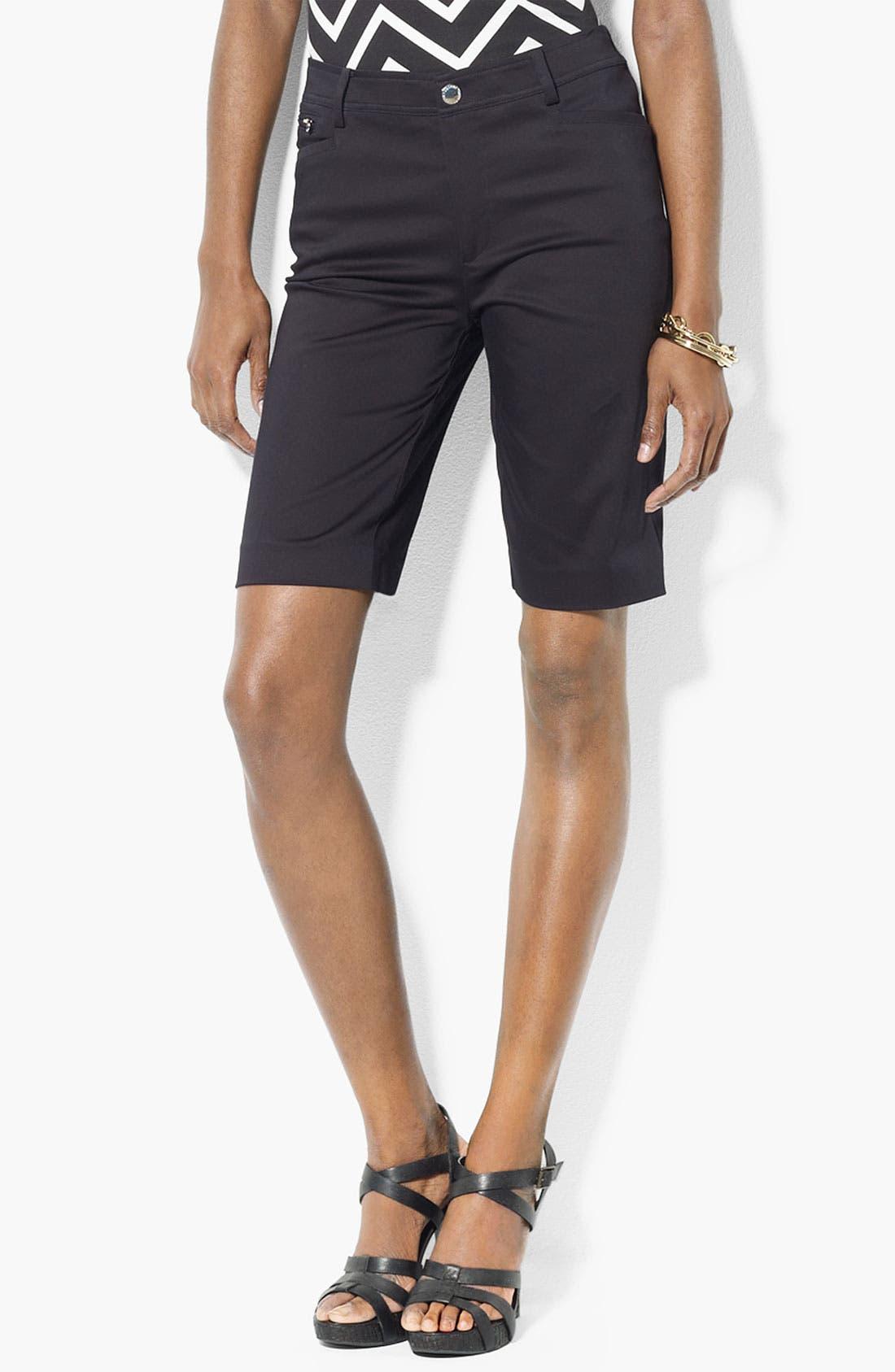 Main Image - Lauren Ralph Lauren Slimming Bermuda Shorts (Petite) (Online Only)