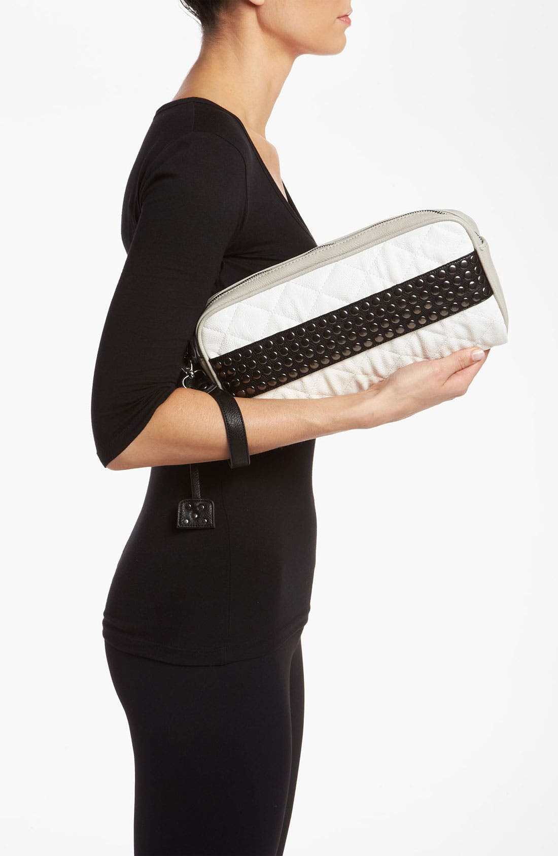 Alternate Image 2  - POVERTY FLATS by rian Studded Clutch