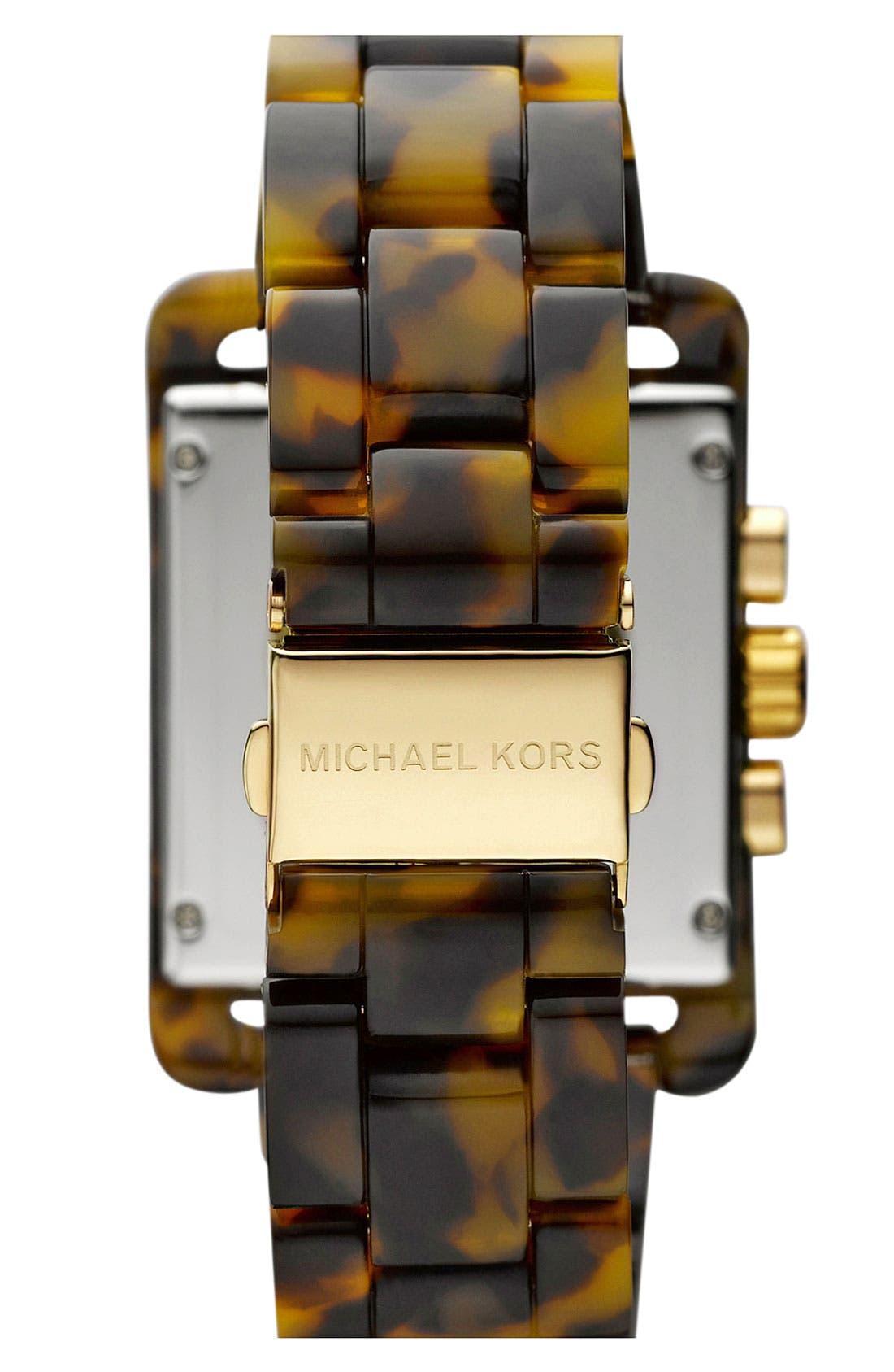 Alternate Image 3  - Michael Kors 'Davenport' Tortoiseshell Chronograph Watch