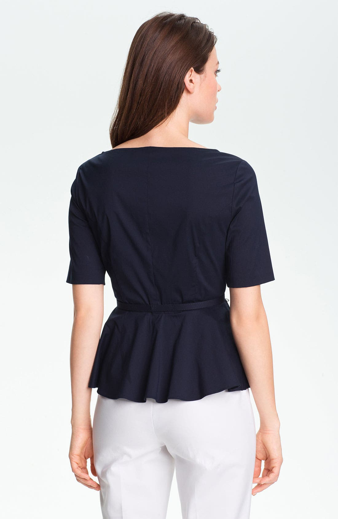 Alternate Image 2  - Adrianna Papell Belted Peplum Blouse
