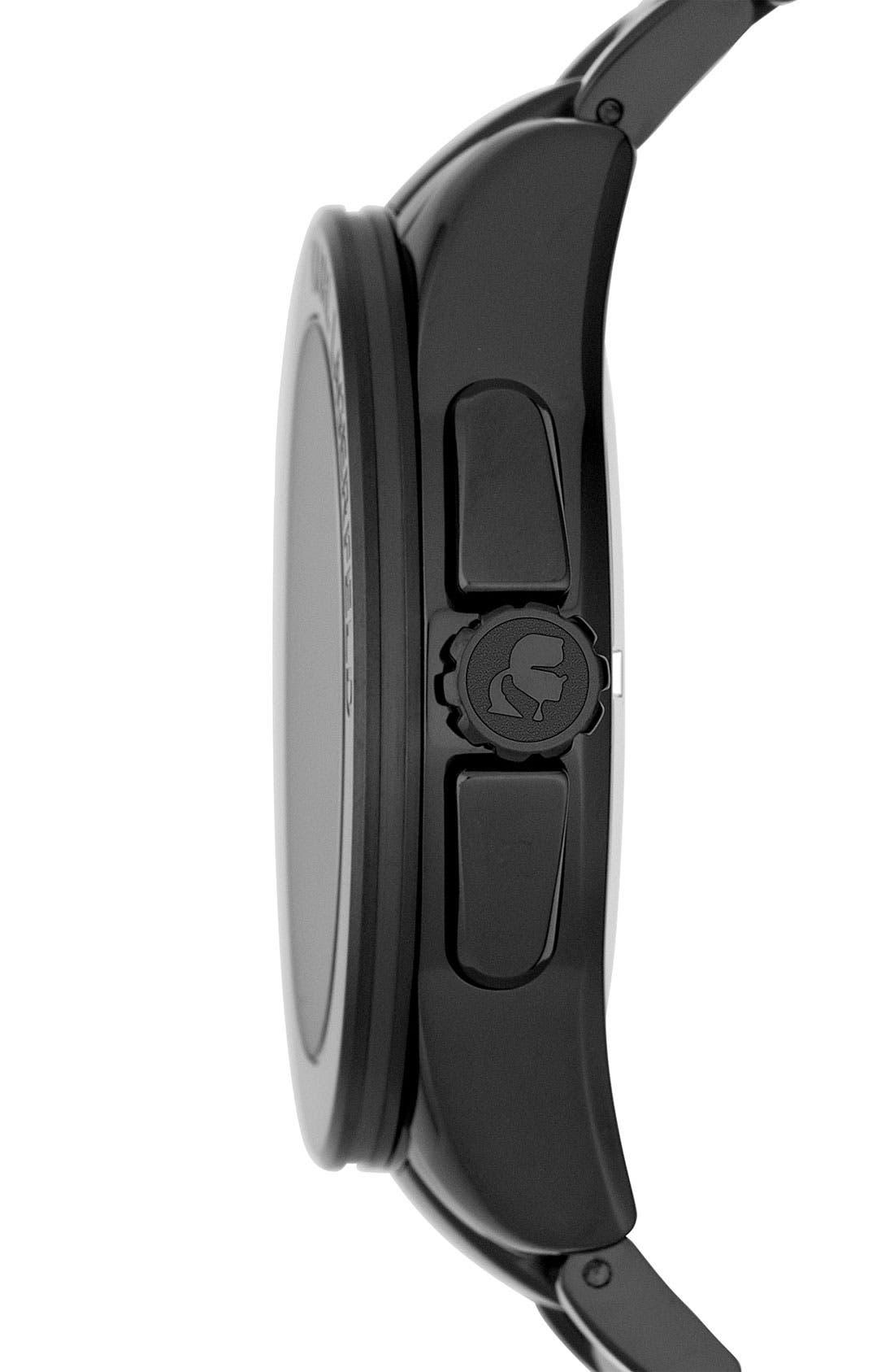 Alternate Image 2  - KARL LAGERFELD 'Energy' Chronograph Bracelet Watch, 44mm