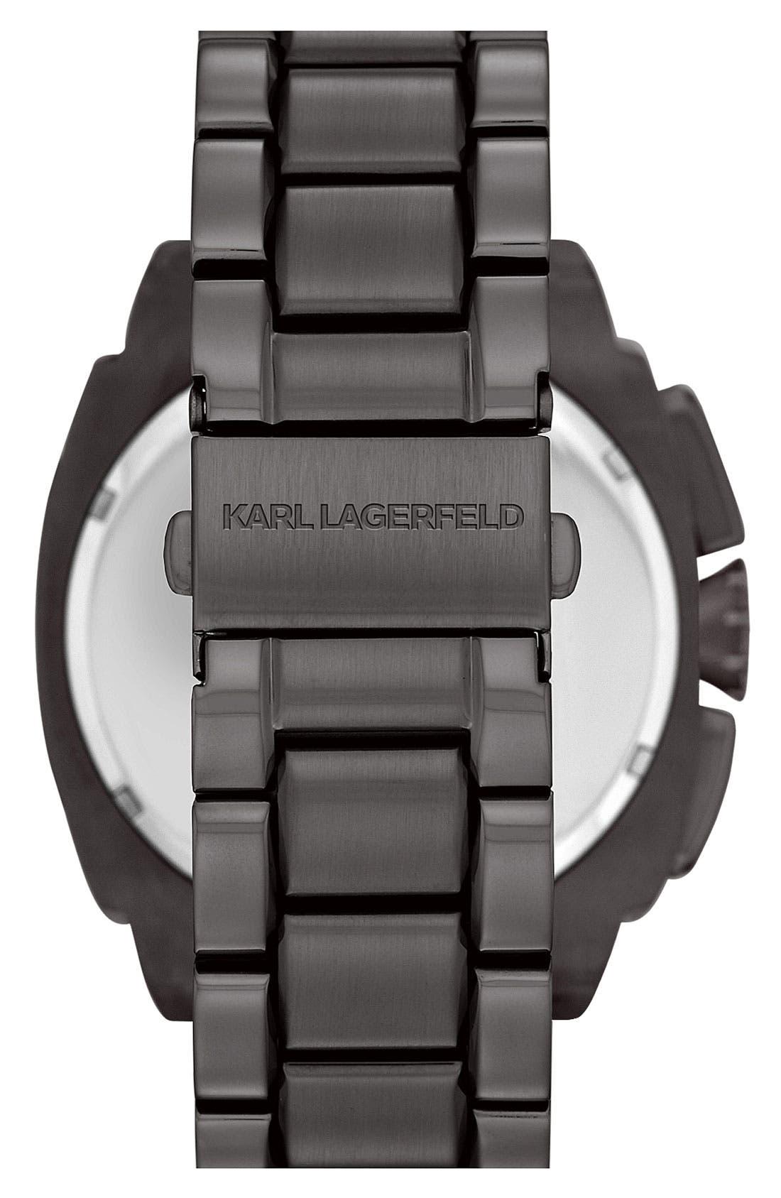 Alternate Image 3  - KARL LAGERFELD 'Keeper' Chronograph Bracelet Watch, 46mm