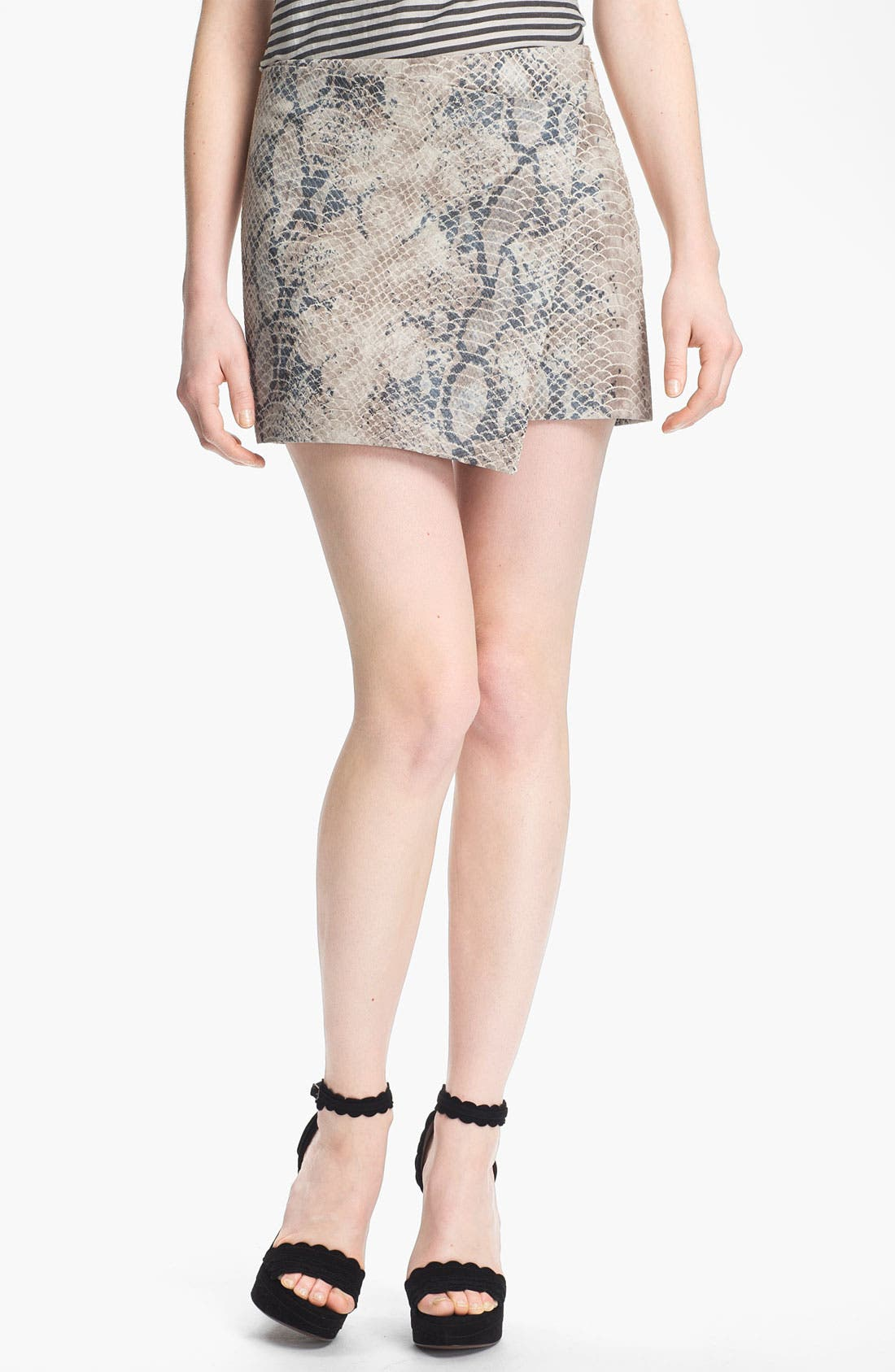 Alternate Image 1 Selected - Gryphon Embossed Wrap Skirt