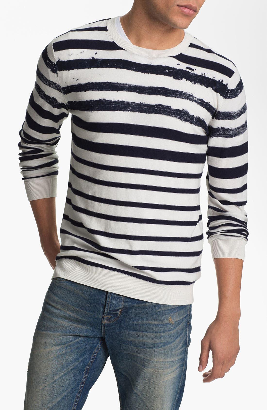 Alternate Image 1 Selected - Edun Stripe Crewneck Sweater