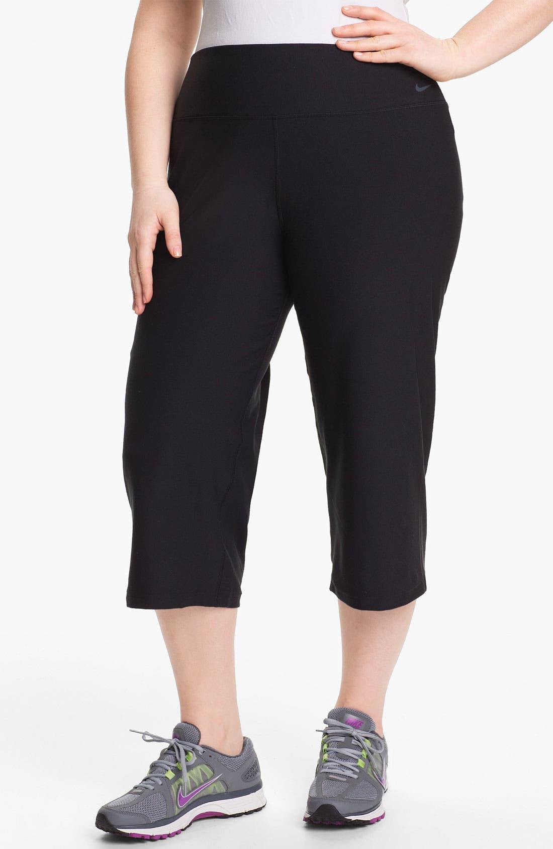 Alternate Image 1 Selected - Nike 'Legend 2.0 Regular Poly' Capri Pants (Plus Size)