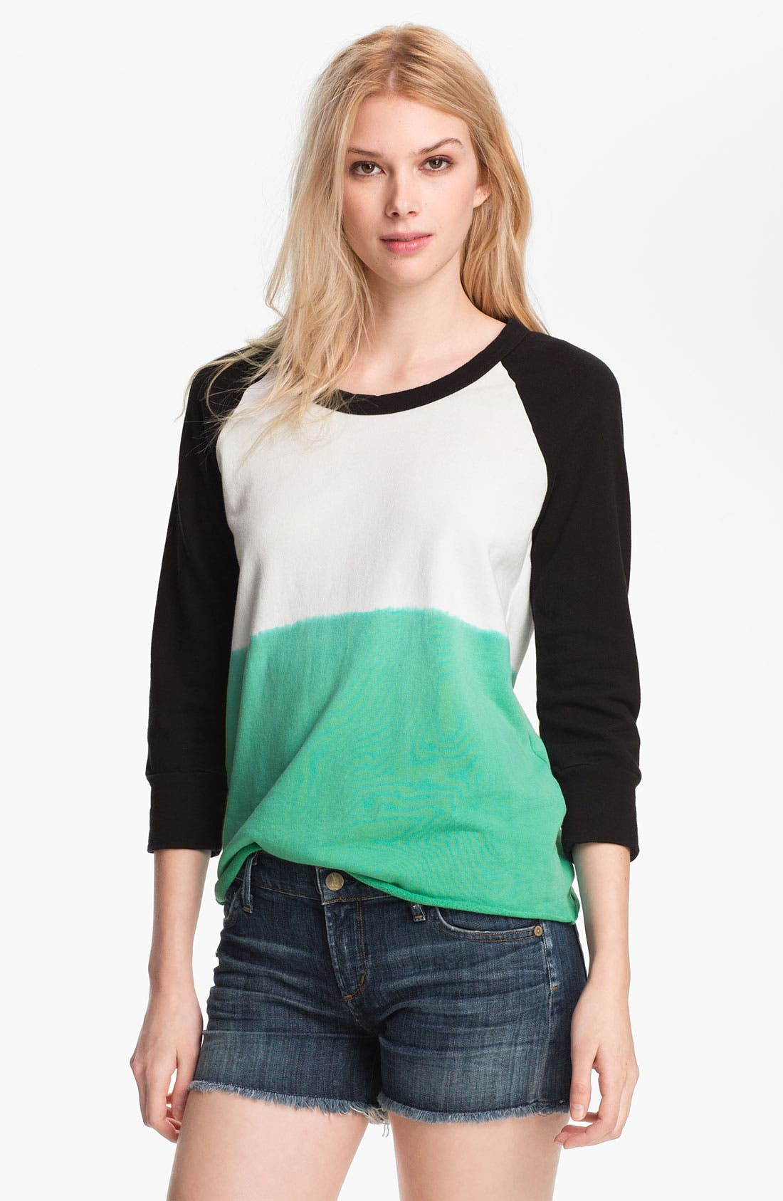 Alternate Image 1 Selected - James Perse Dip Dye Baseball Top