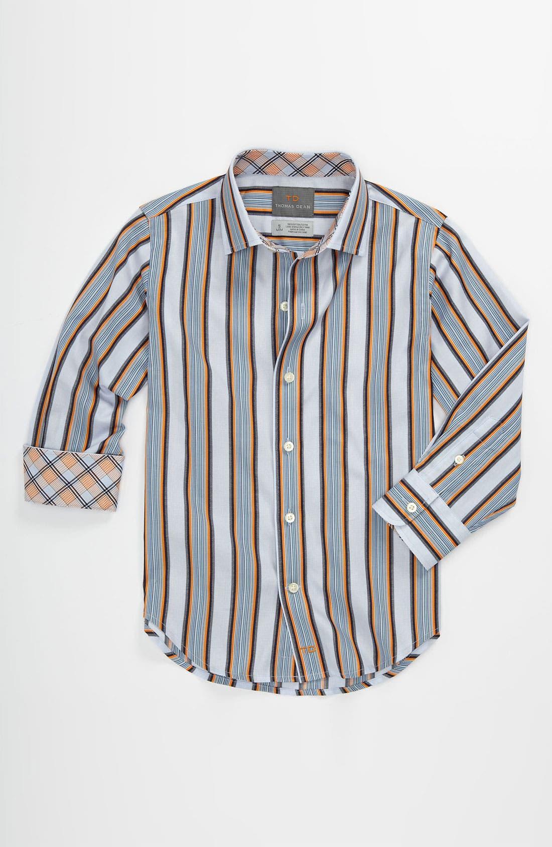 Alternate Image 1 Selected - Thomas Dean Stripe Dress Shirt (Little Boys)