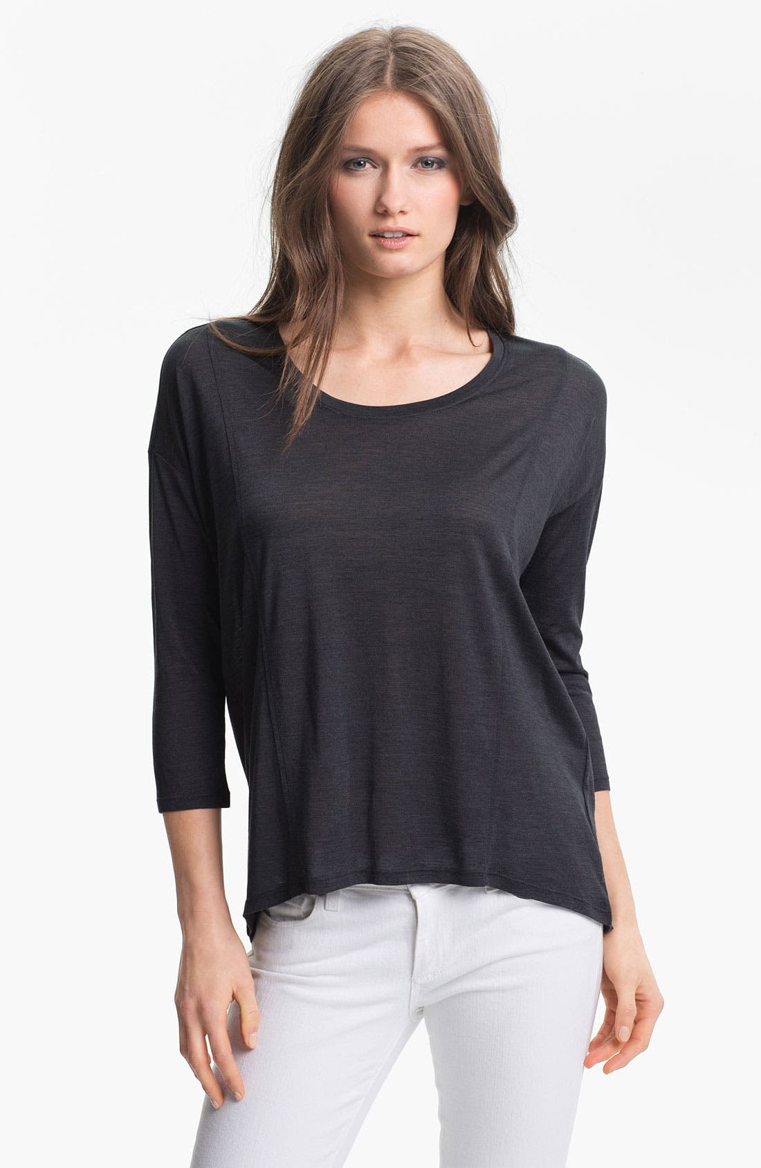 Alternate Image 1 Selected - Eileen Fisher Silk Blend Top
