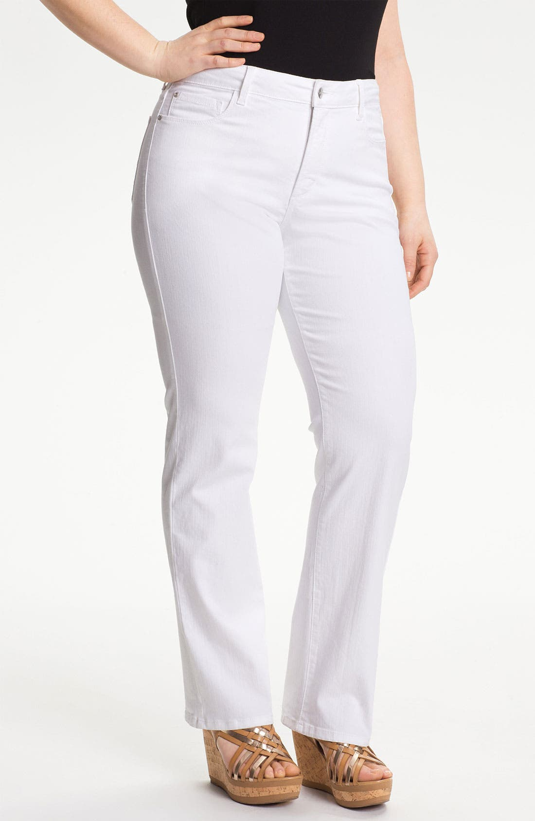 Alternate Image 1 Selected - NYDJ Embellished Straight Jeans (Plus Size)