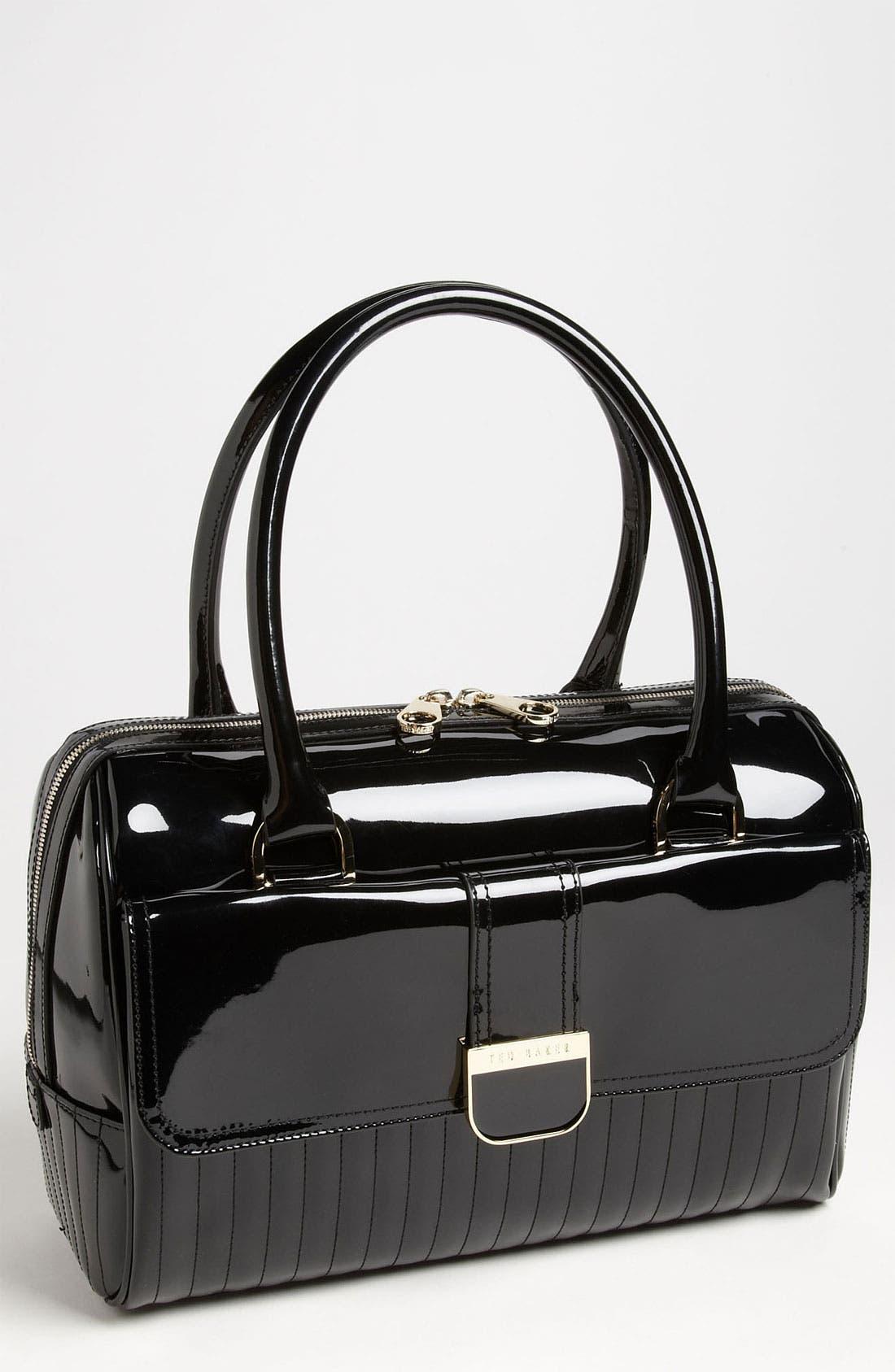 Main Image - Ted Baker London 'Enamel' Quilted Bowler Bag