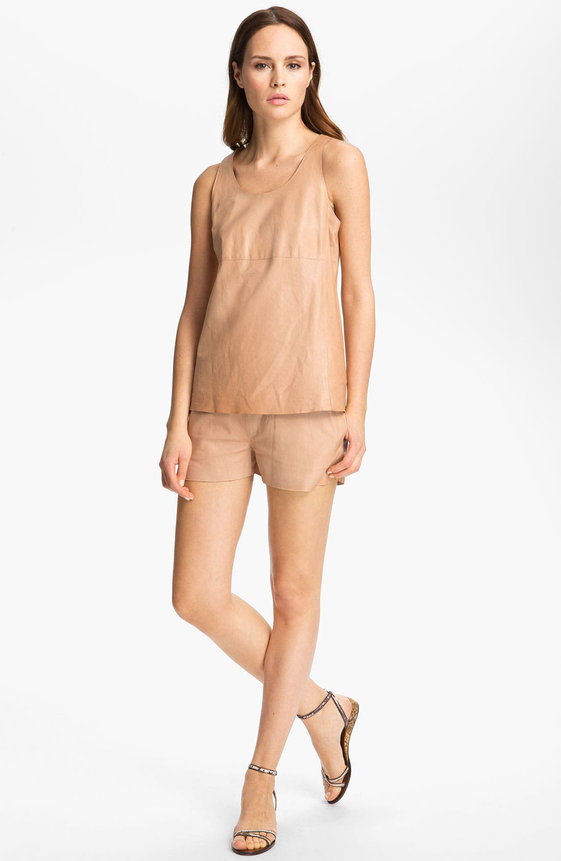 Alternate Image 1 Selected - J Brand Ready-to-Wear 'Huston' Leather Tank