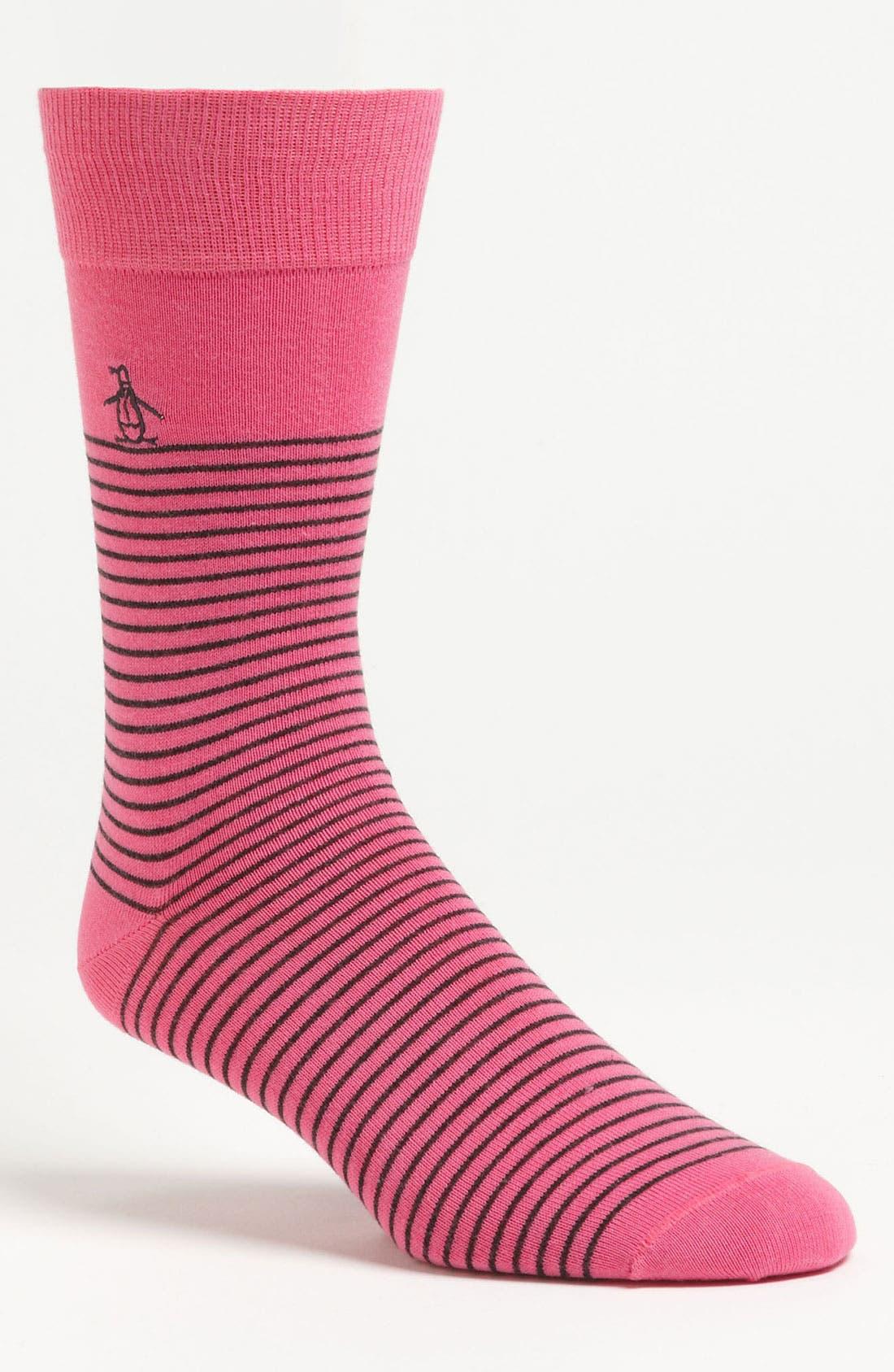 Alternate Image 1 Selected - Original Penguin Stripe Socks