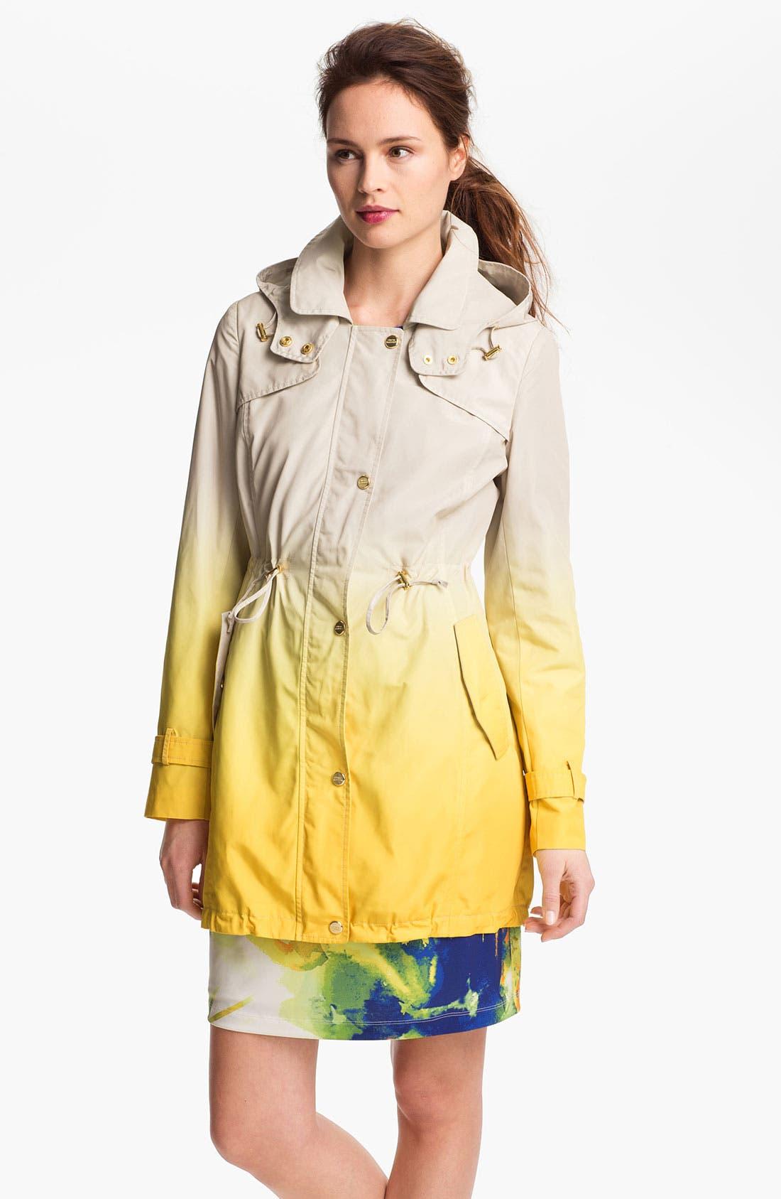 Alternate Image 1 Selected - Steve Madden Ombré Coat with Detachable Hood
