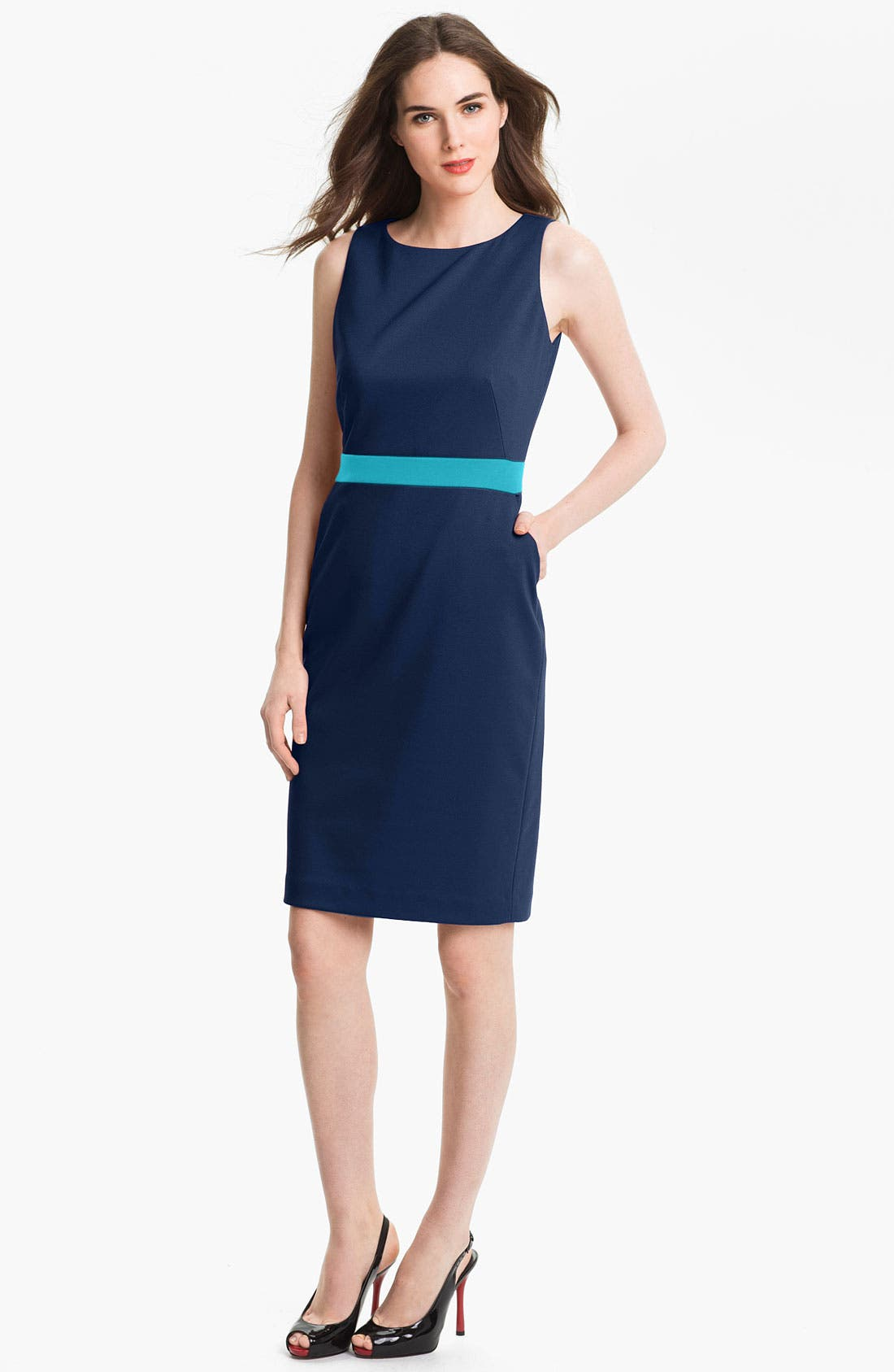Alternate Image 1 Selected - Anne Klein Colorblock Shift Dress
