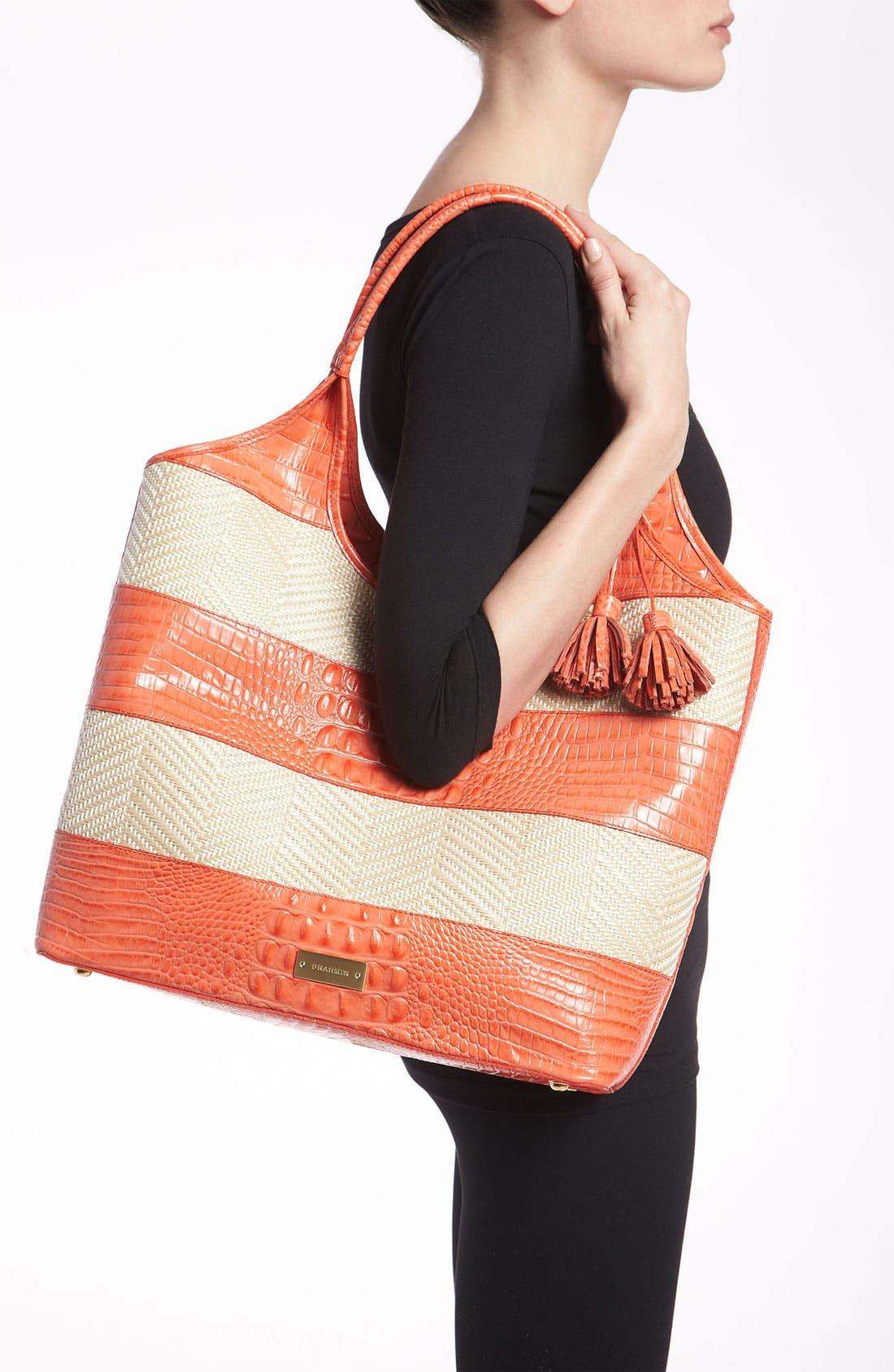 Alternate Image 2  - Brahmin 'Vineyard' Leather & Raffia Shopper