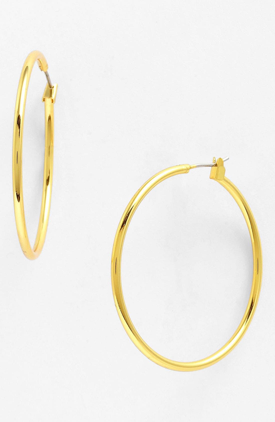 Alternate Image 1 Selected - Anne Klein Large Hoop Earrings
