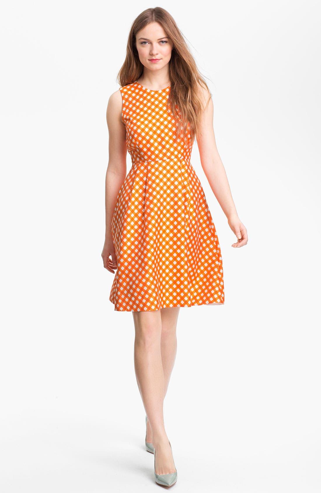 Alternate Image 1 Selected - kate spade new york 'tallulah' silk blend fit & flare dress