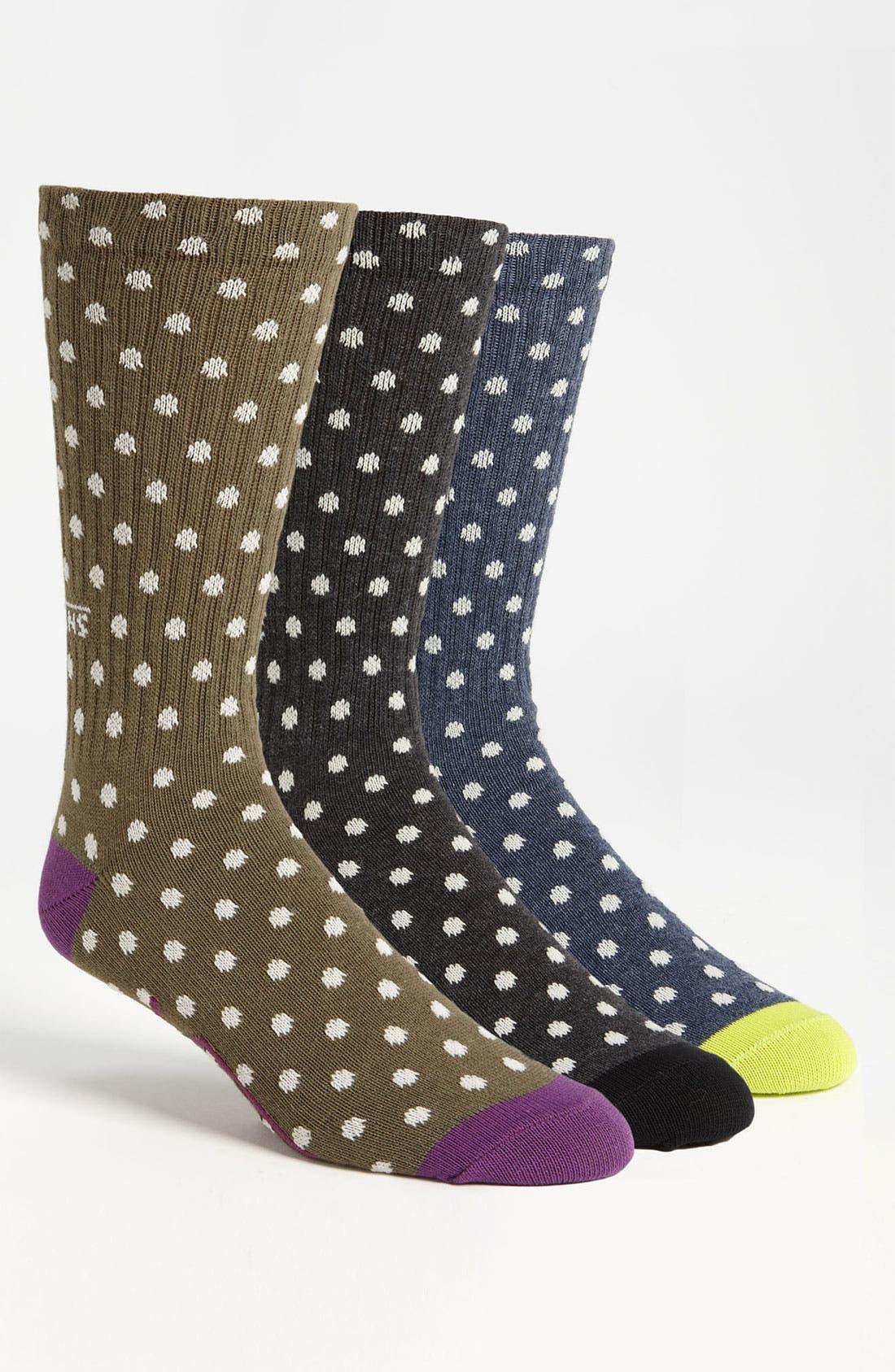 Alternate Image 1 Selected - Vans Polka Dot Crew Socks (3-Pack)