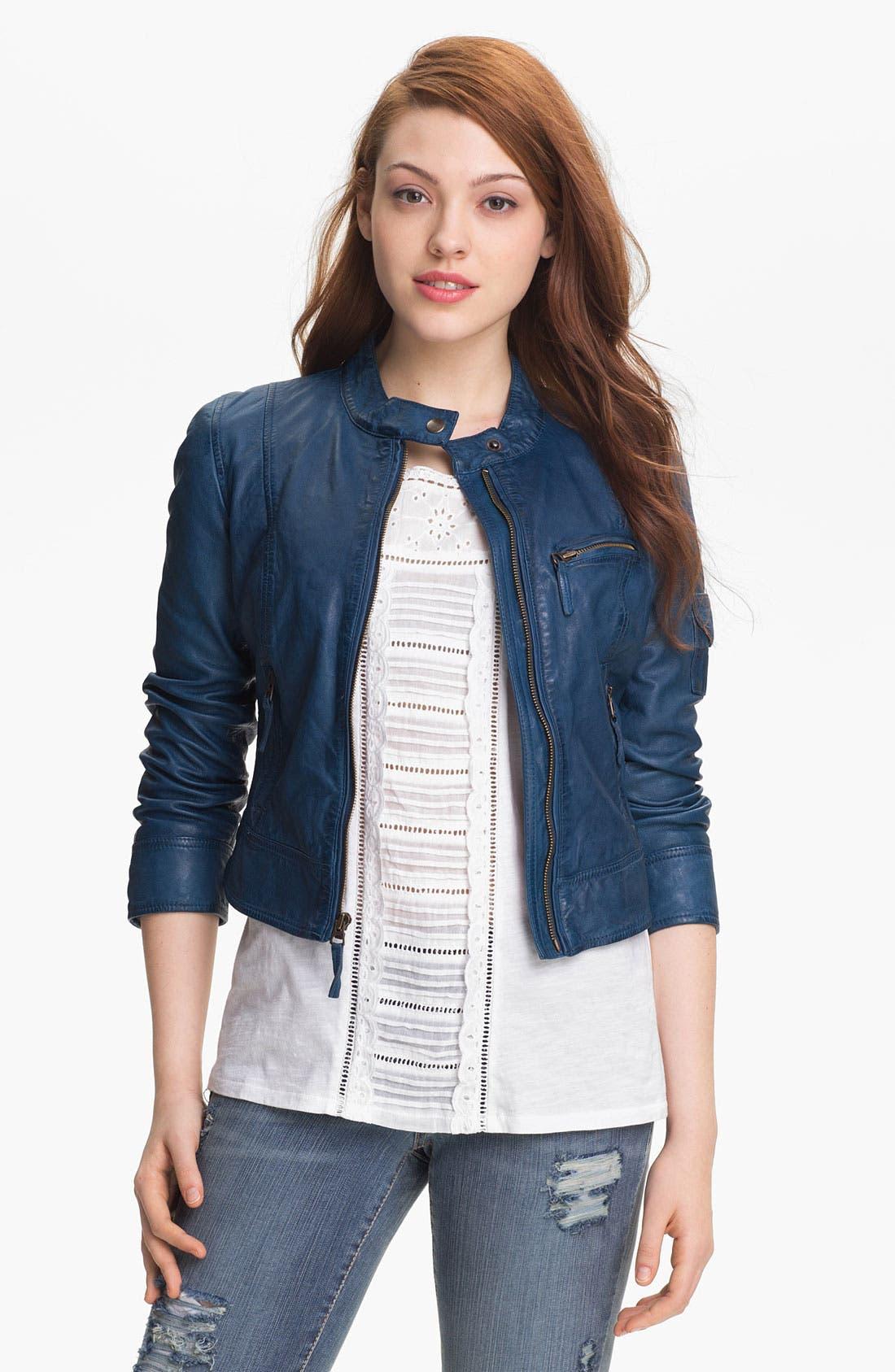 Main Image - Lucky Brand 'Belden' Leather Jacket