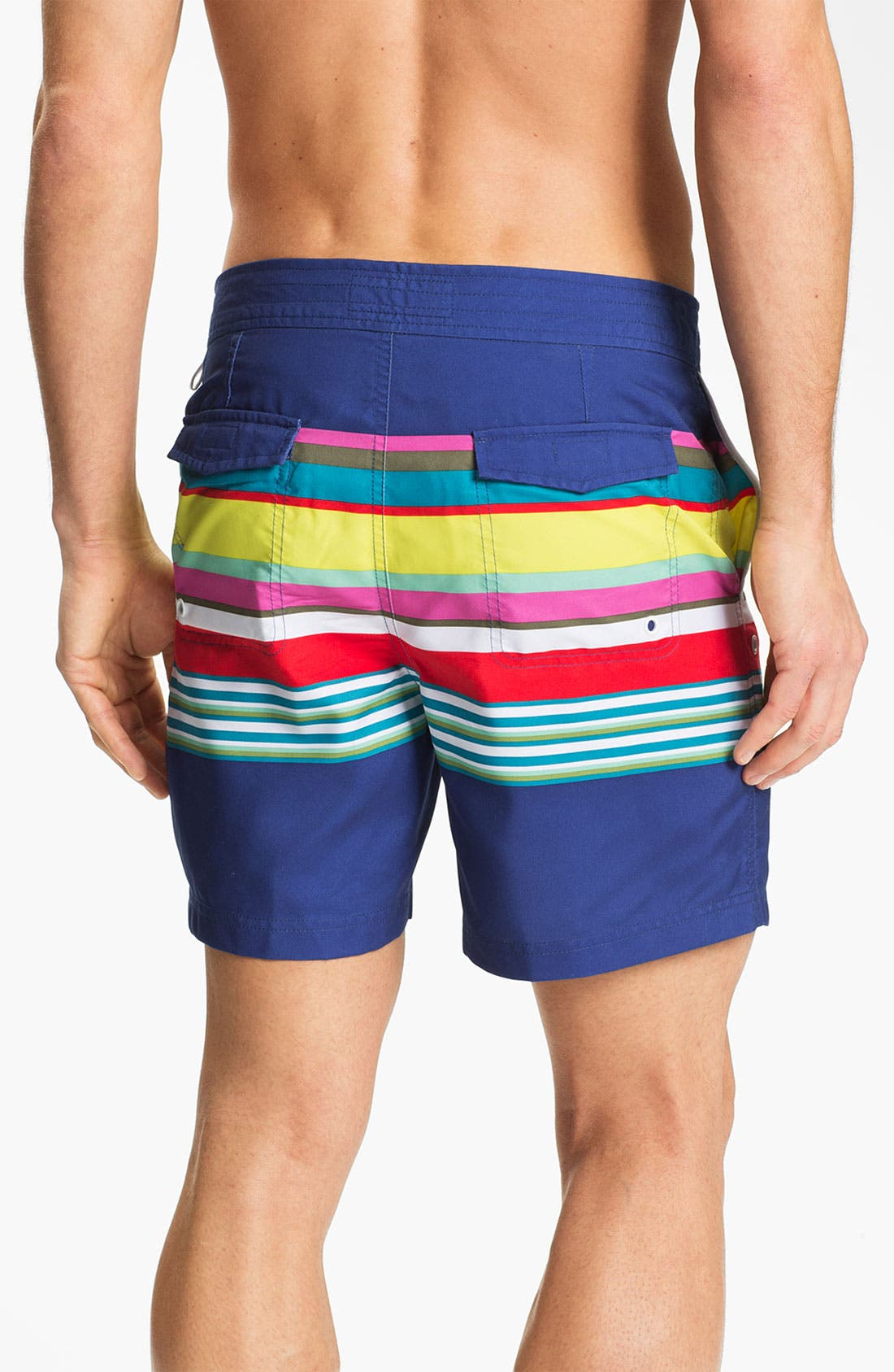 Alternate Image 2  - Original Penguin Stripe Swim Shorts