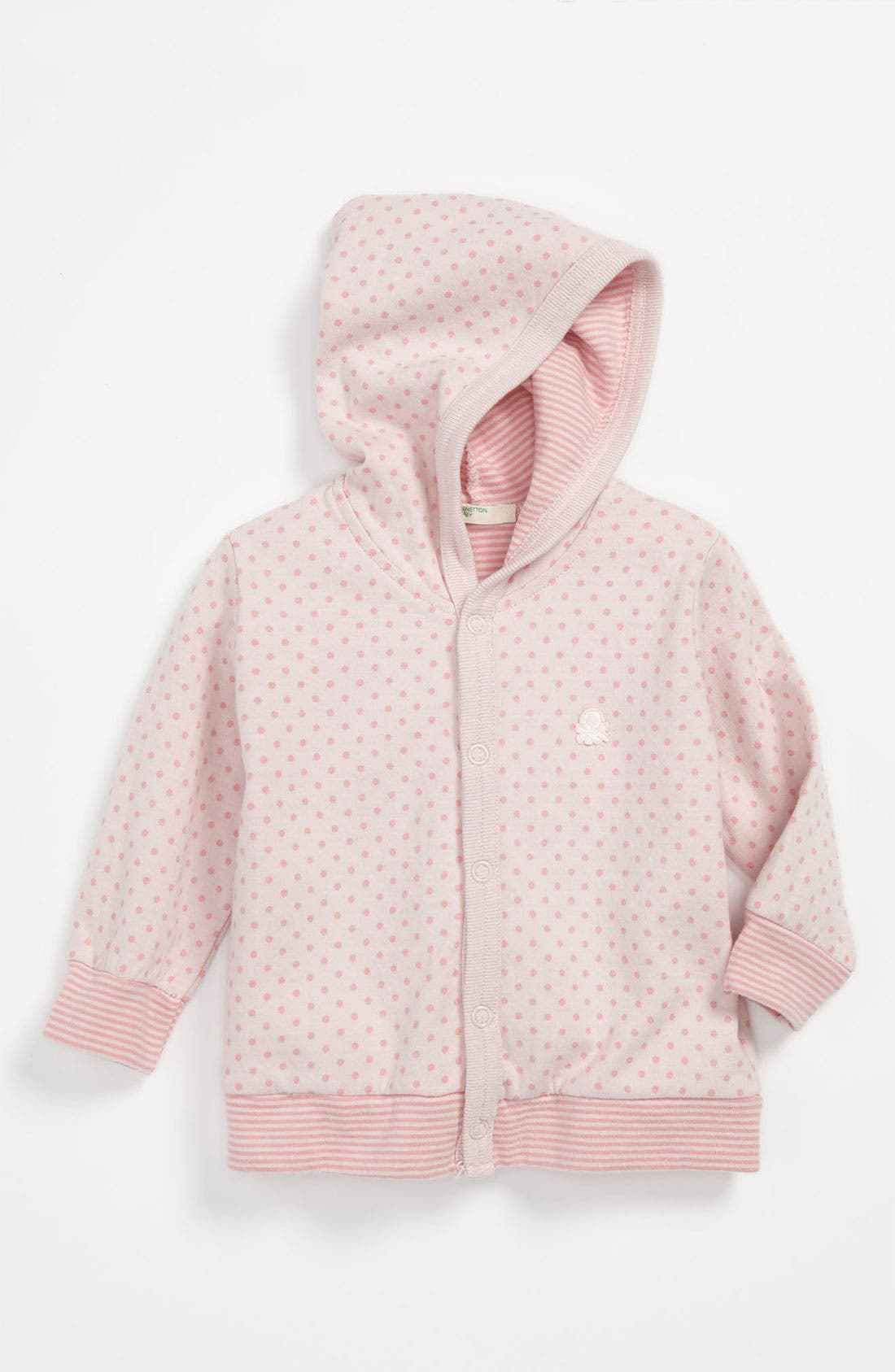Alternate Image 1 Selected - United Colors of Benetton Kids Polka Dot Hoodie (Baby)