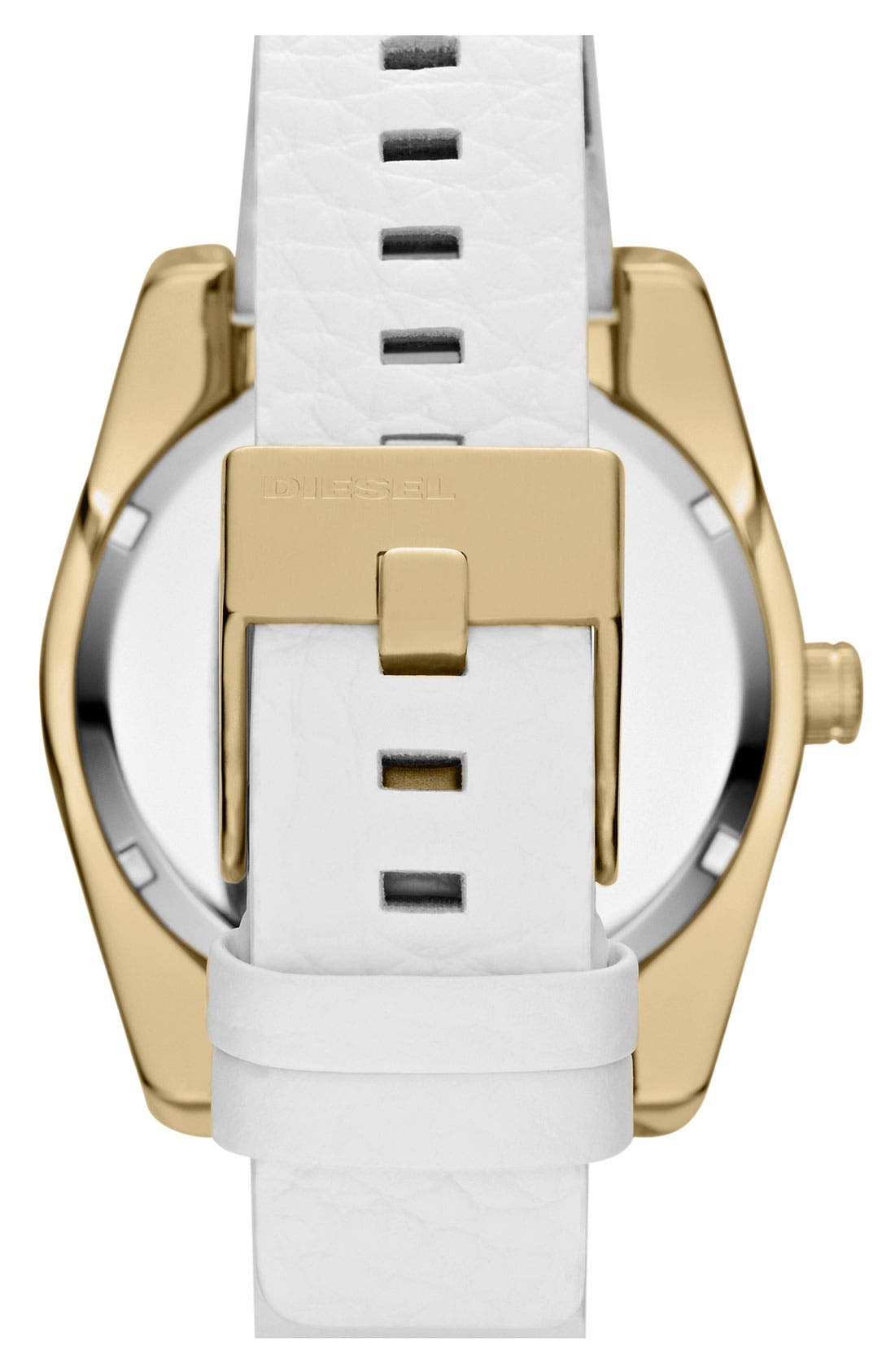 Alternate Image 3  - DIESEL® 'Good Company' Leather Strap Watch, 44mm