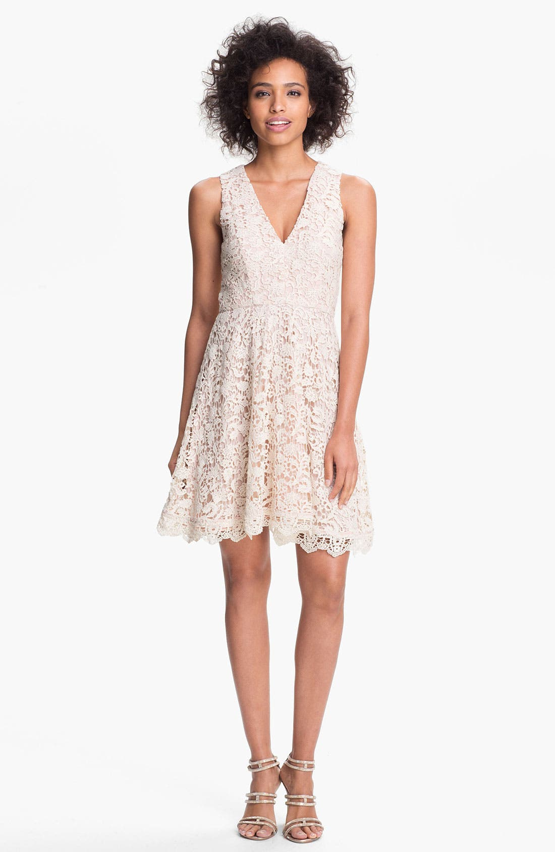 Main Image - French Connection 'Loving Crochet' Fit & Flare Dress