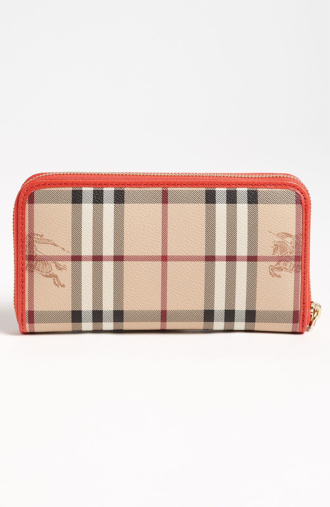 Alternate Image 4  - Burberry 'Haymarket Check' Zip Around Wallet