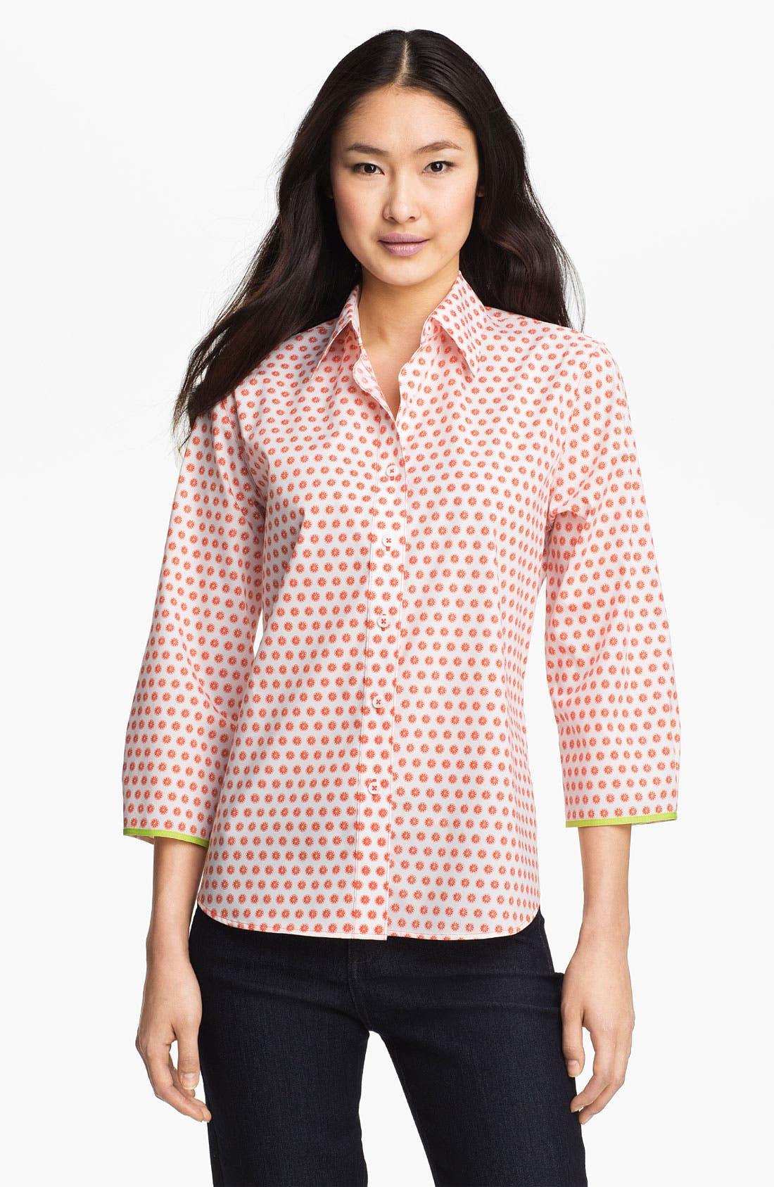 Alternate Image 1 Selected - Foxcroft 'Citrus Dot' Shirt