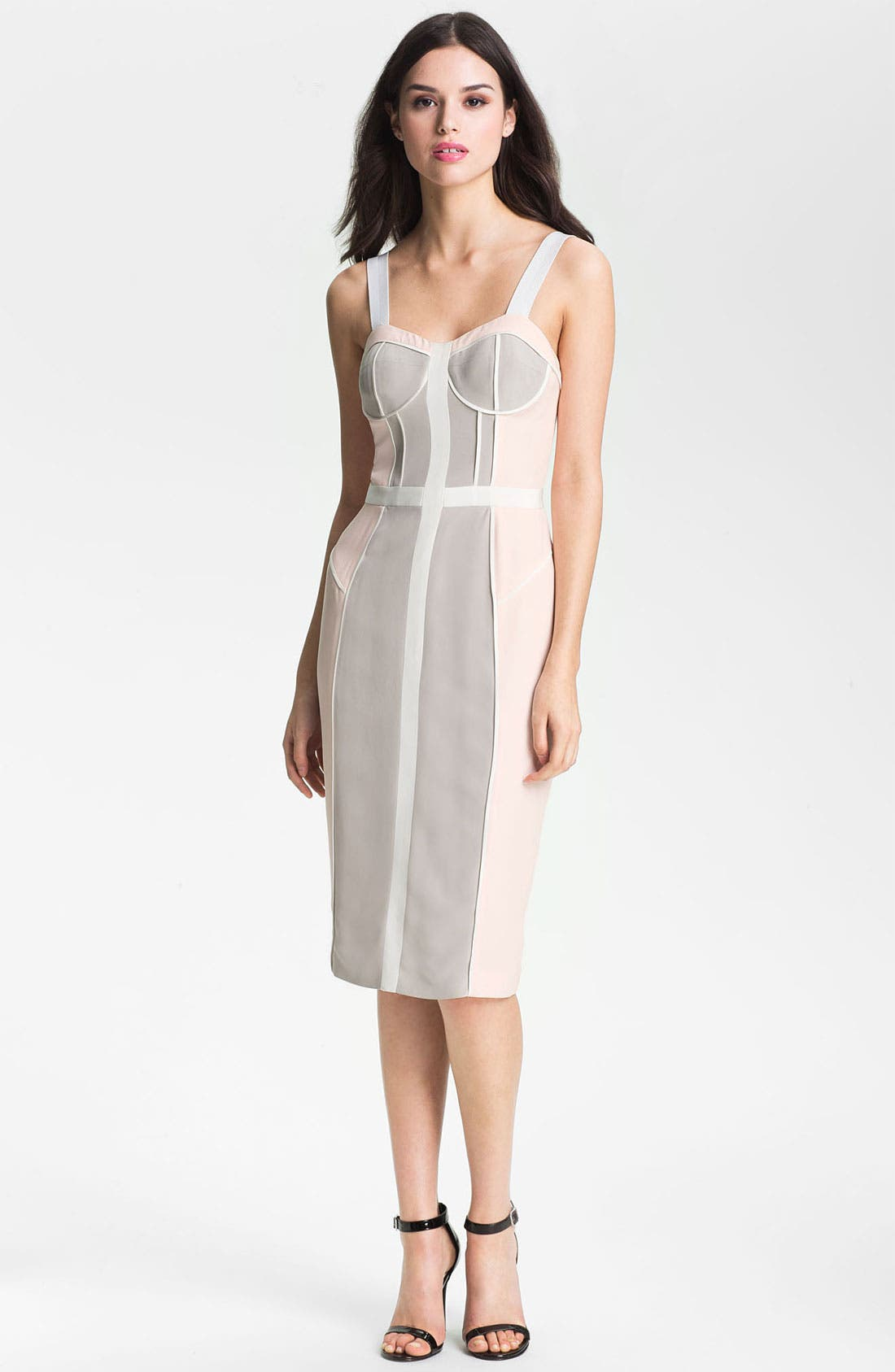 Alternate Image 1 Selected - Rebecca Minkoff 'Clarissa' Colorblock Bustier Dress