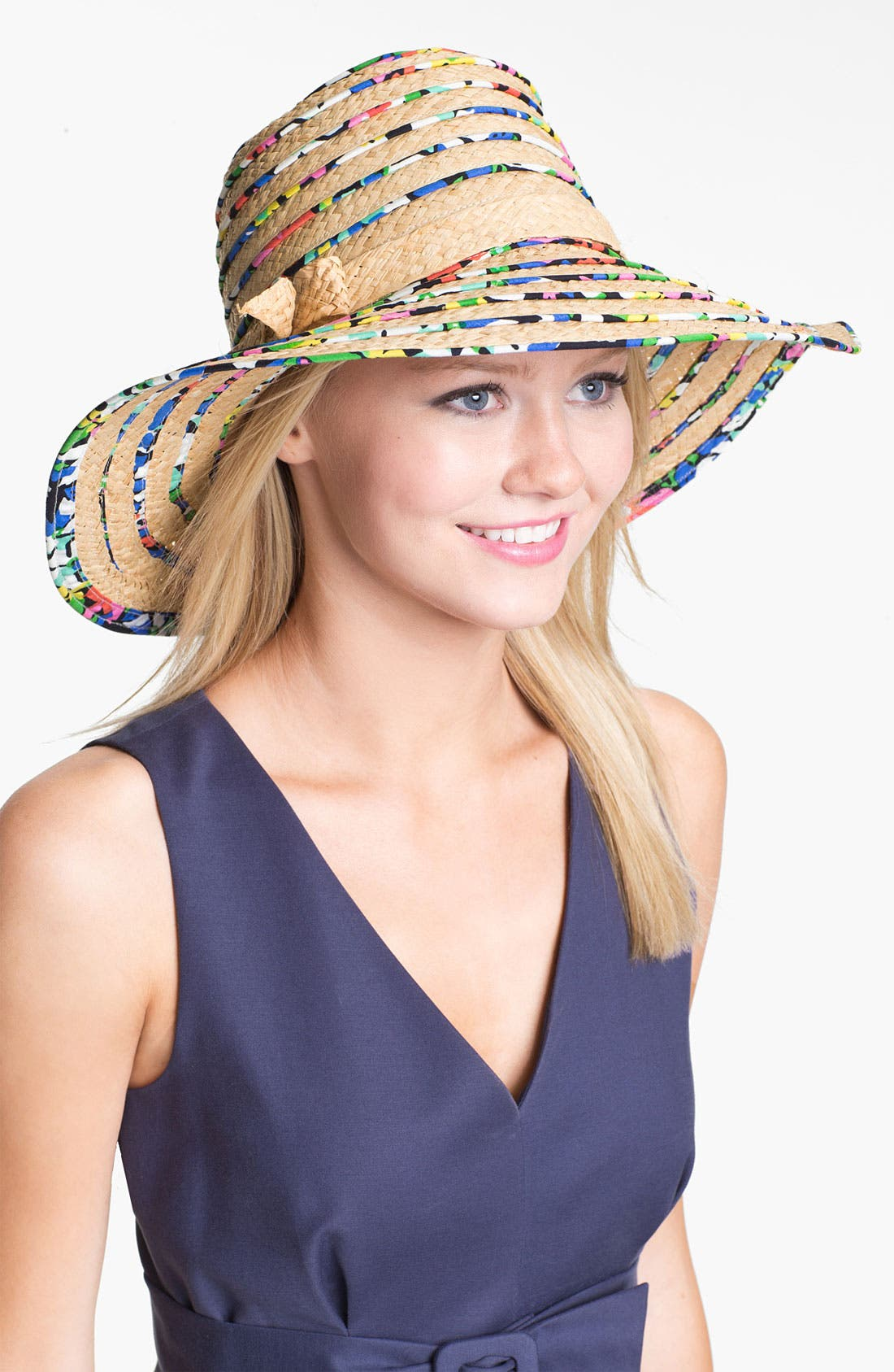 Alternate Image 1 Selected - kate spade new york print piping sun hat