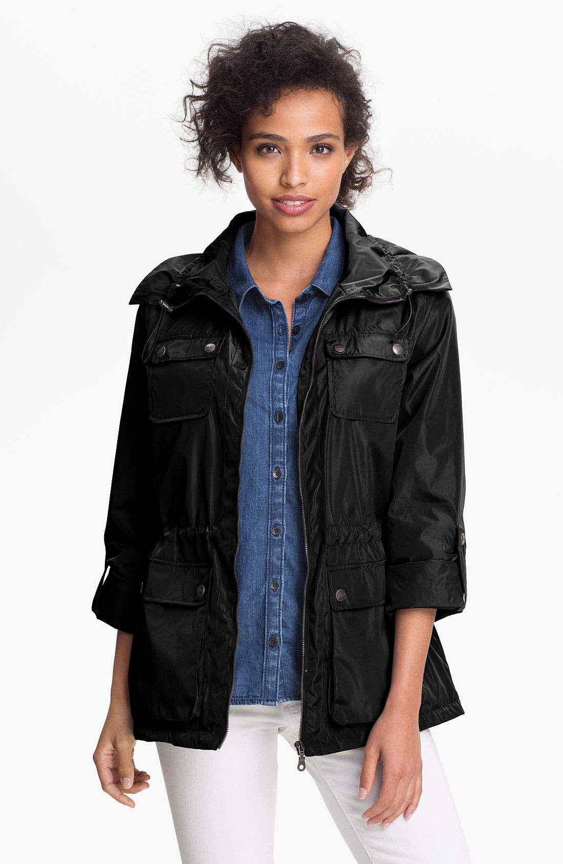 Main Image - DKNY Roll Sleeve Anorak (Online Only)