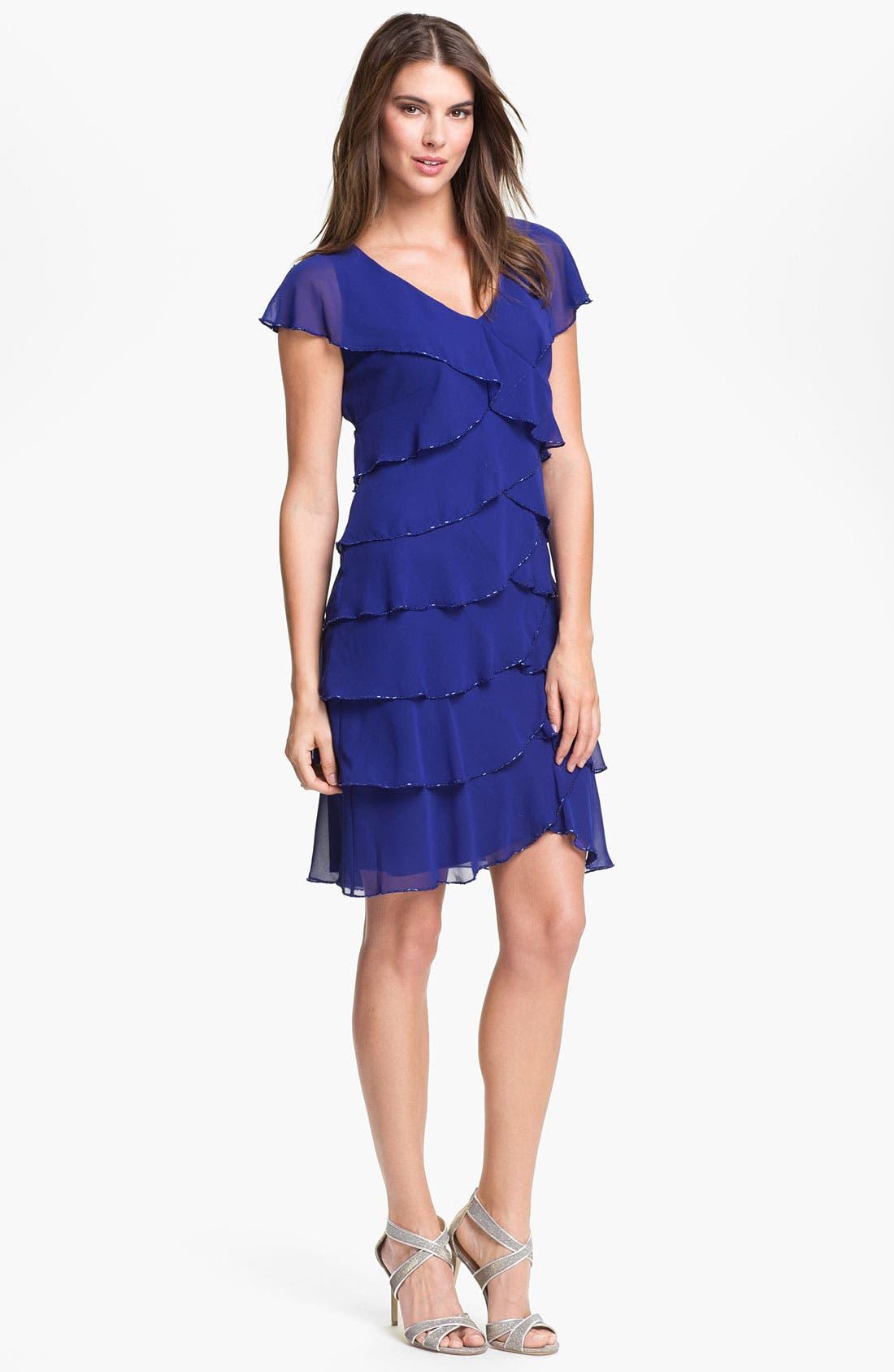 Alternate Image 1  - Patra Embellished Layered Chiffon Dress