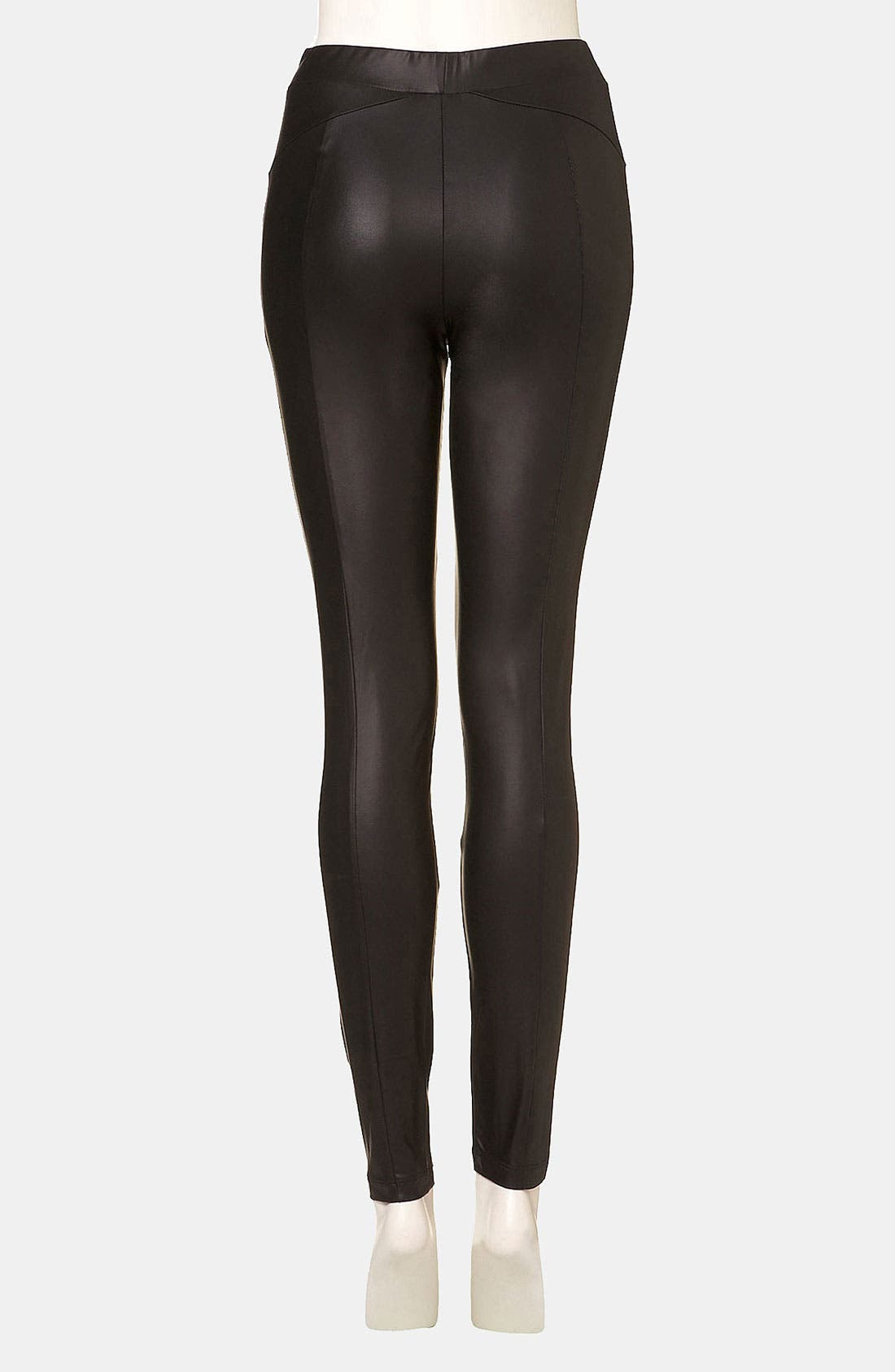 Alternate Image 2  - Topshop Faux Leather Leggings