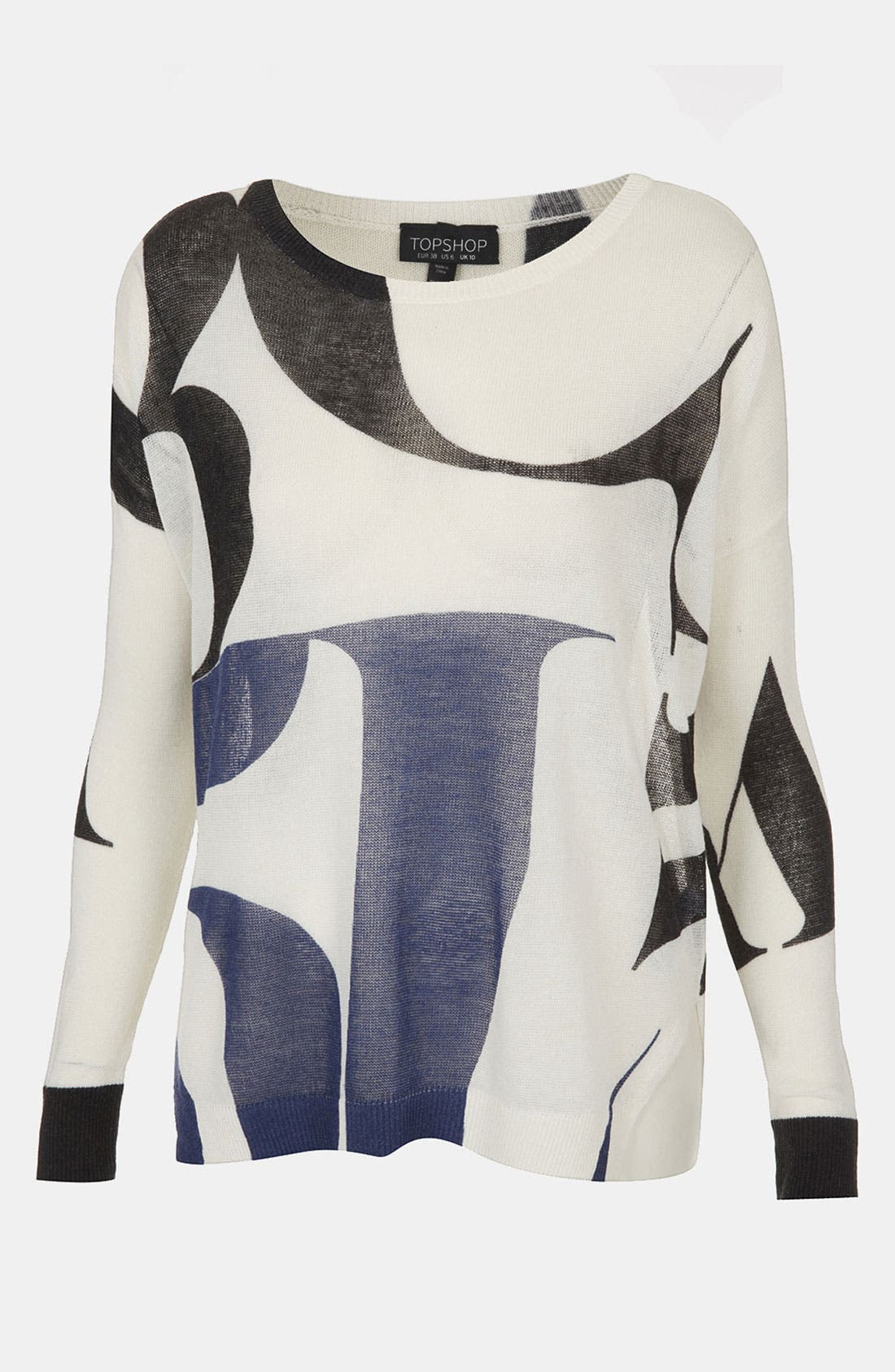 Alternate Image 1 Selected - Topshop 'Arthaus Letter' Print Sweater