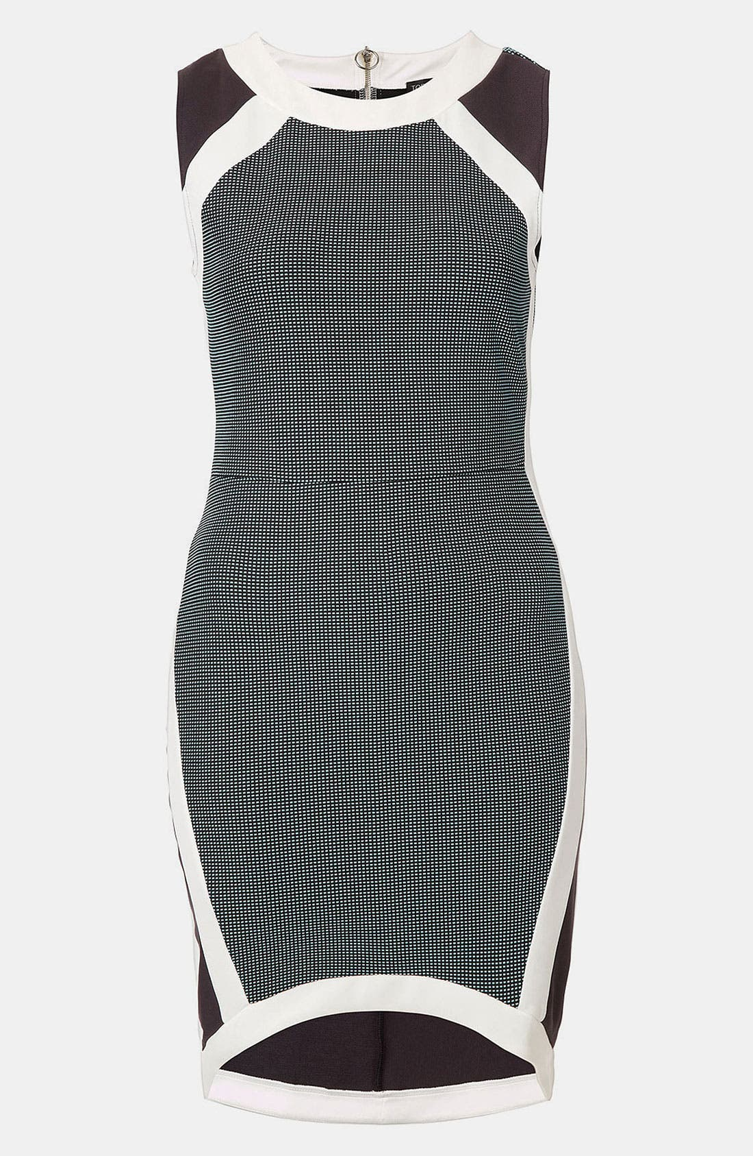 Alternate Image 1 Selected - Topshop Mixed Media Body-Con Dress