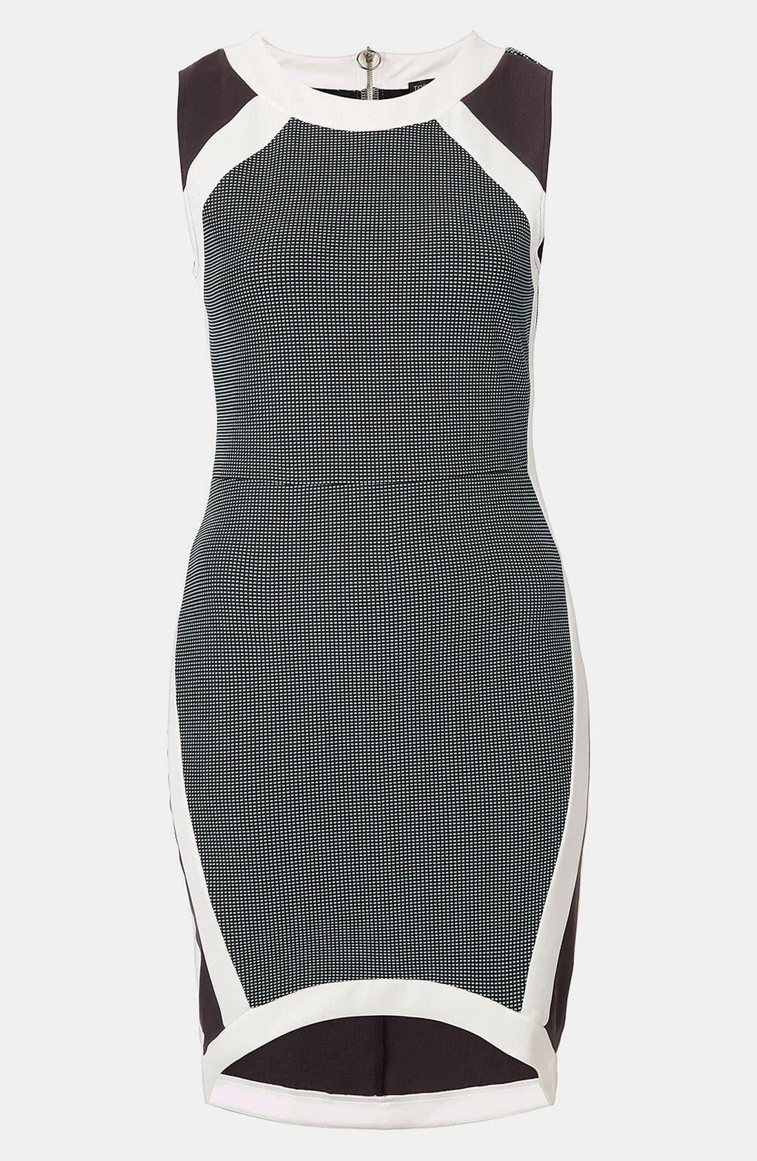 Main Image - Topshop Mixed Media Body-Con Dress