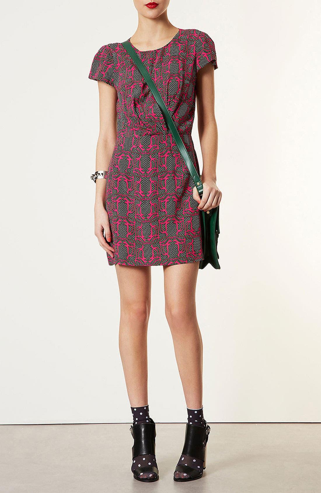 Main Image - Topshop 'Darcy' Vintage Print Dress