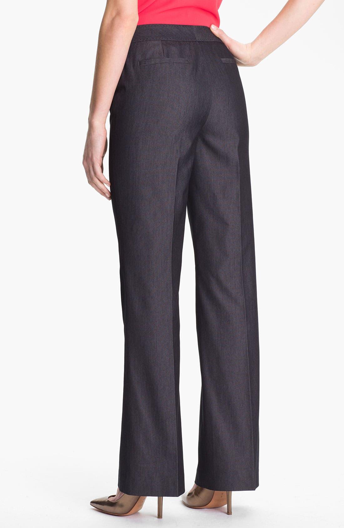 Alternate Image 2  - Halogen® 'Taylor' Curvy Fit Black Denim Pants