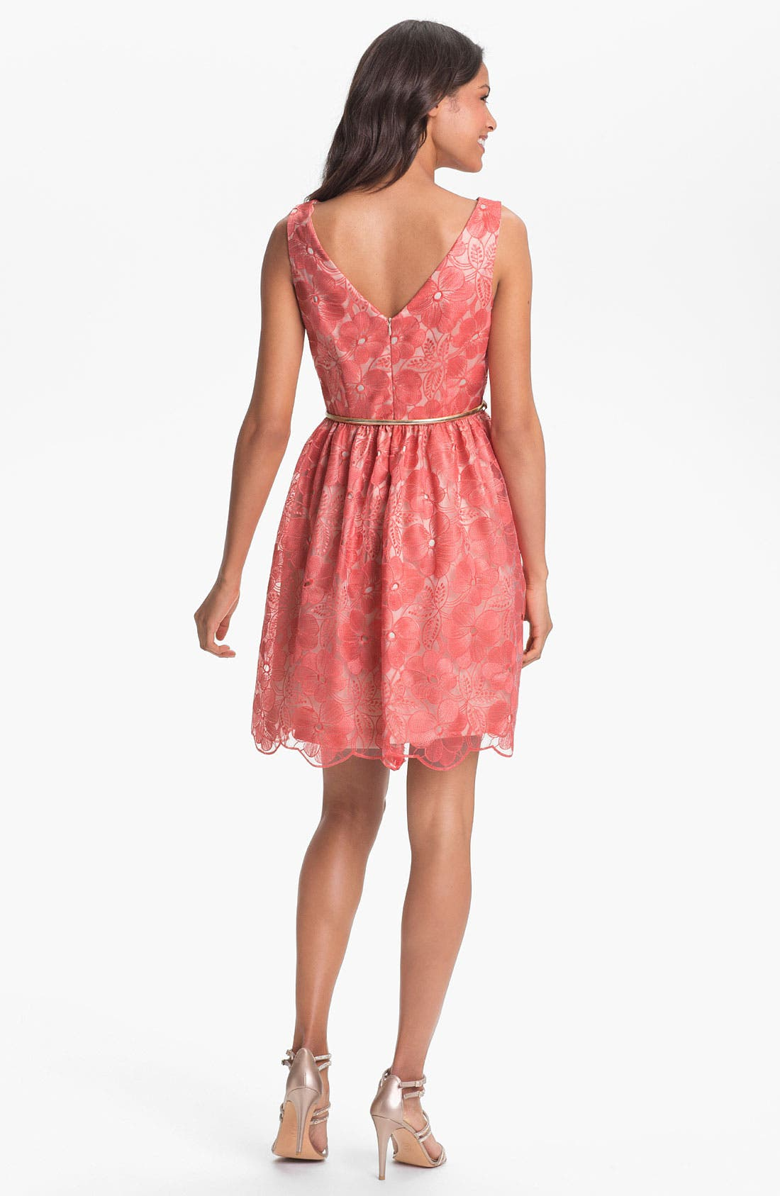 Alternate Image 2  - Eliza J Embroidered Fit & Flare Dress