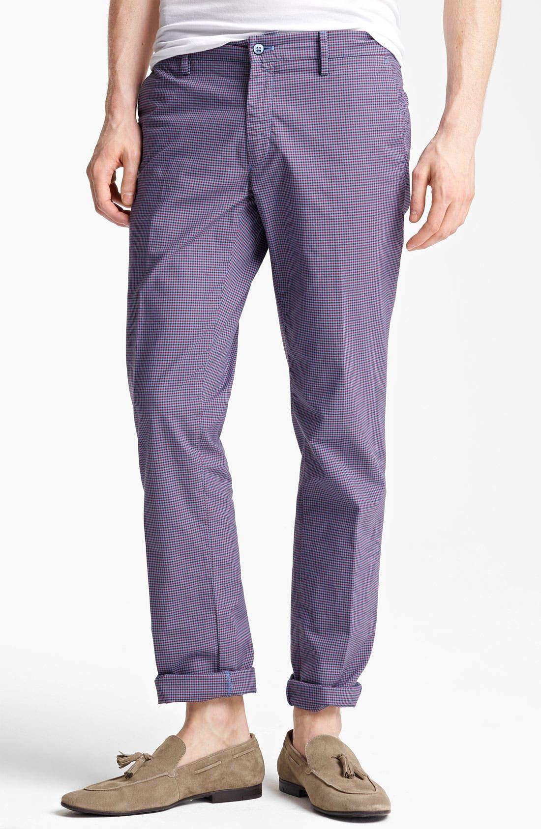 Alternate Image 1 Selected - Mason's Check Straight Leg Pants