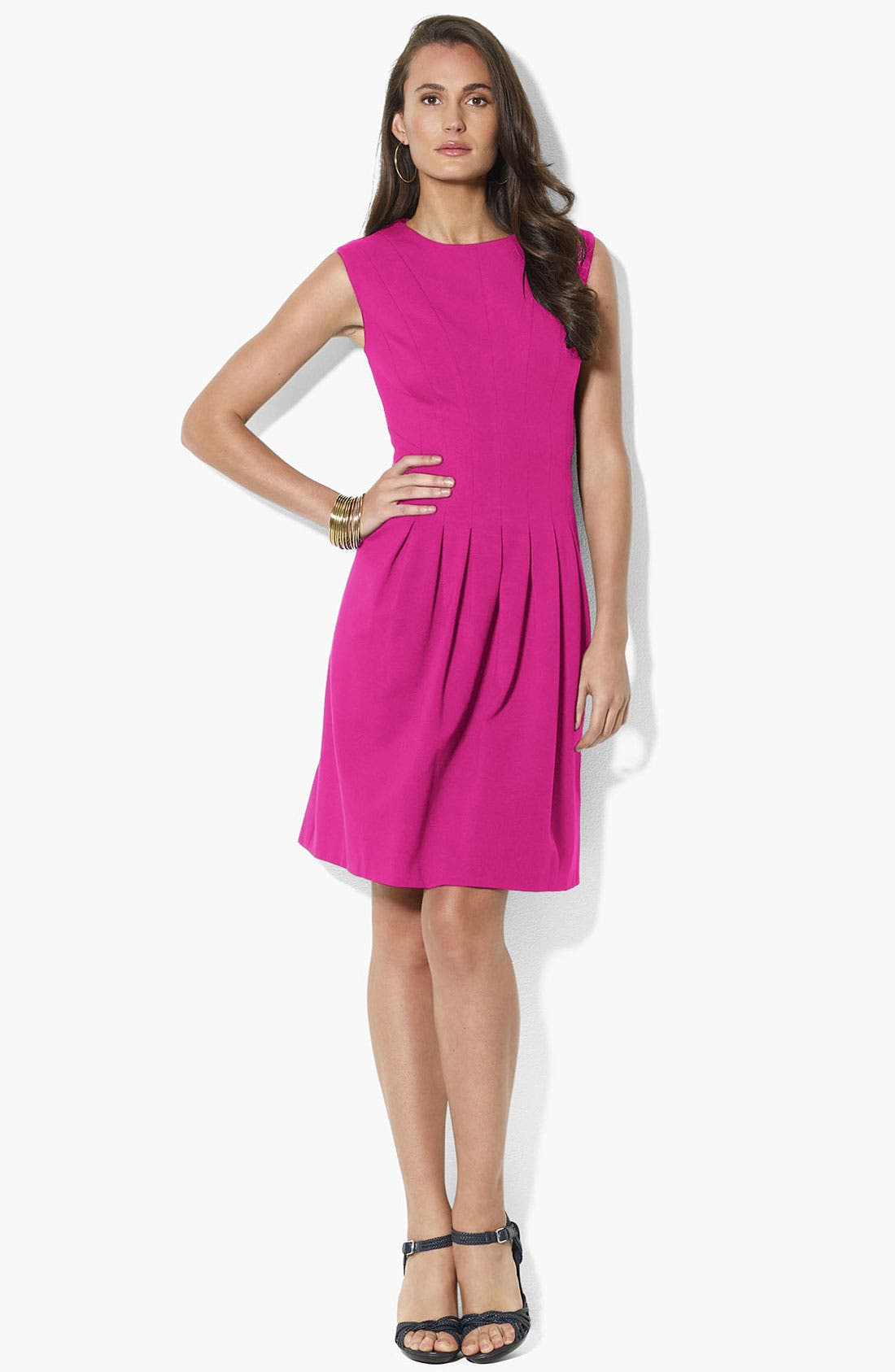 Main Image - Lauren Ralph Lauren Ponte Knit Fit & Flare Dress
