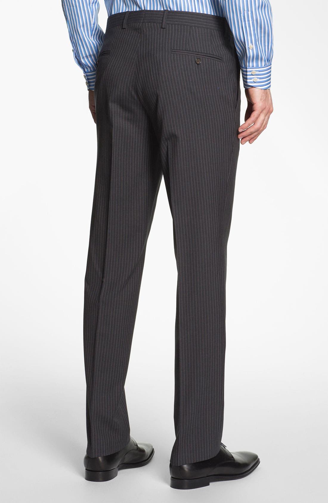 Alternate Image 5  - Ted Baker London Trim Fit Stripe Suit
