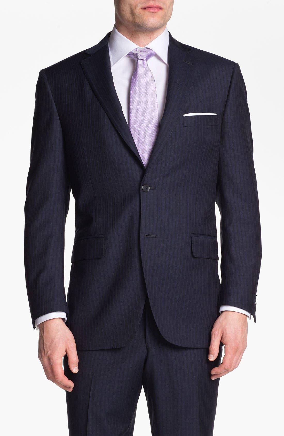 Alternate Image 1 Selected - Peter Millar Stripe Wool Suit