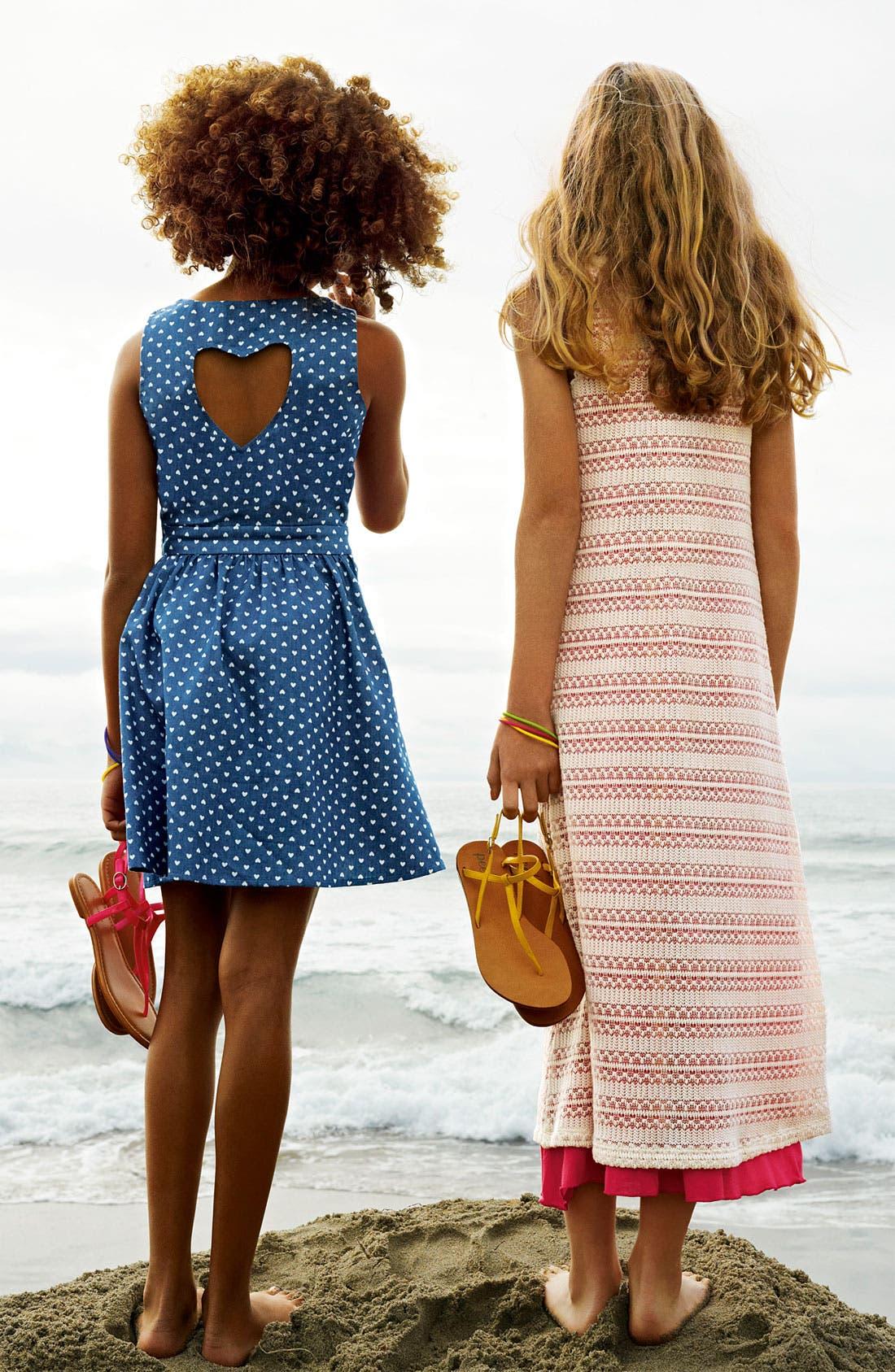 Alternate Image 3  - Mia Chica Chambray Dress (Little Girls & Big Girls)