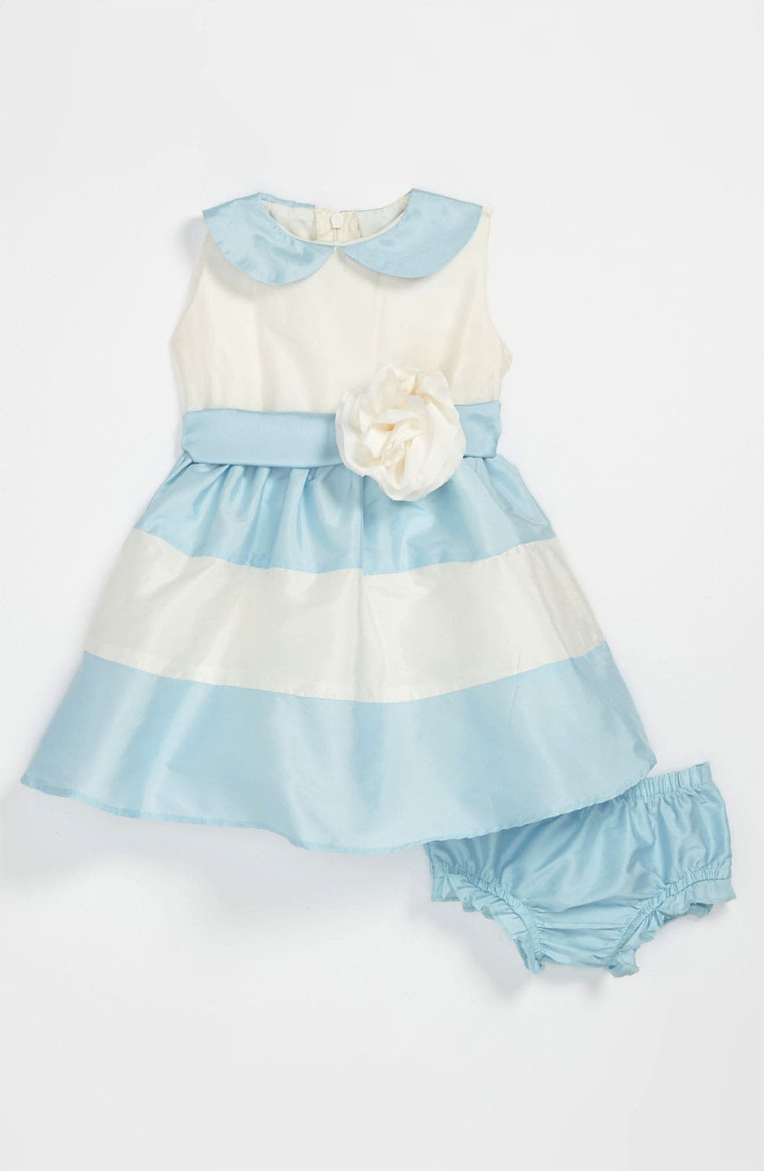 Main Image - Us Angels Peter Pan Collar Dress (Baby Girls)