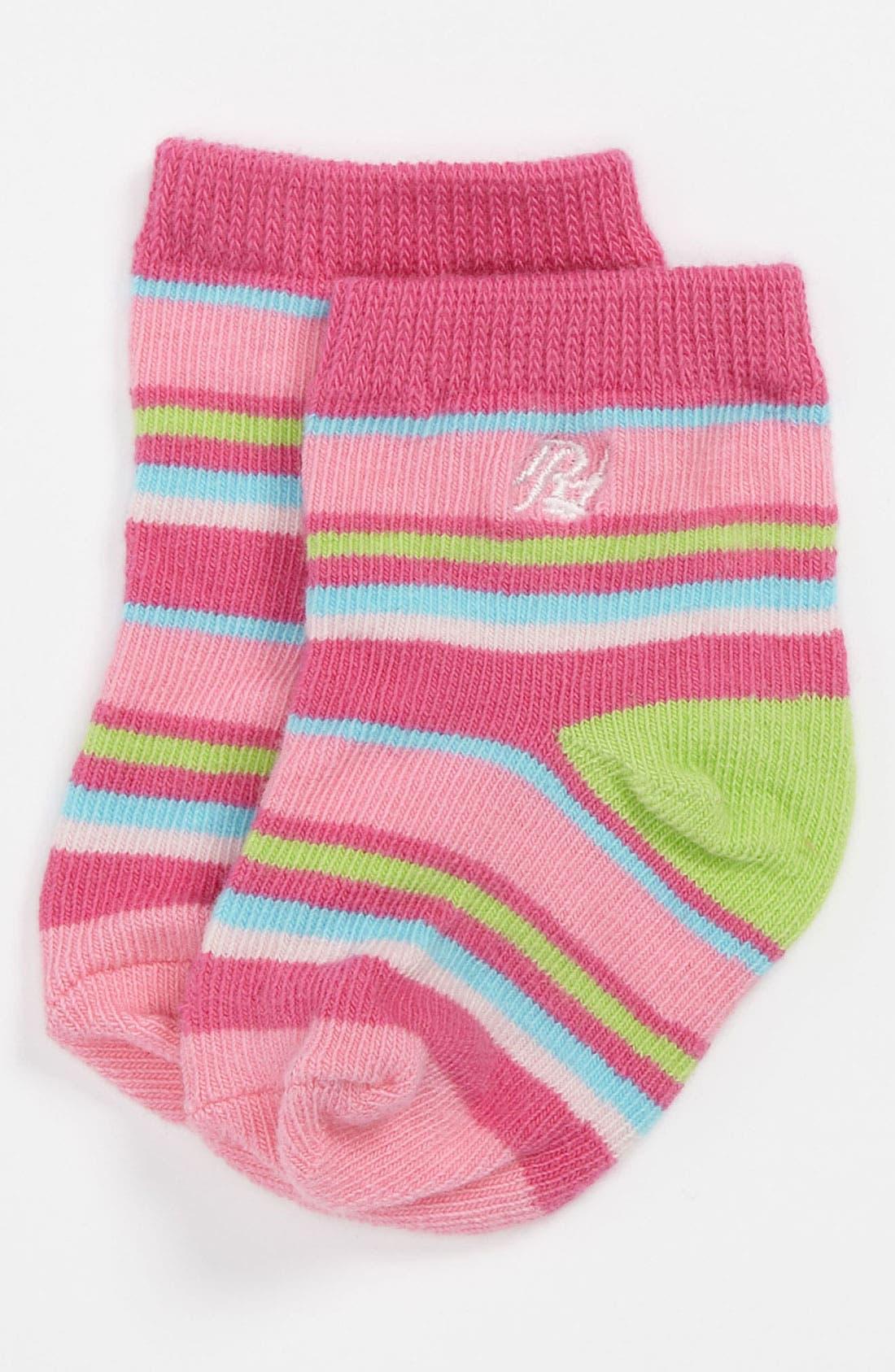 Alternate Image 1 Selected - Polo Ralph Lauren Crew Socks (Baby Girls)
