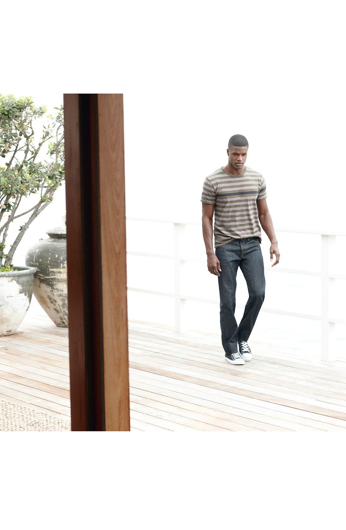 Alternate Image 5  - rag & bone 'RB19X' Slim Straight Leg Jeans (Olive Resin)