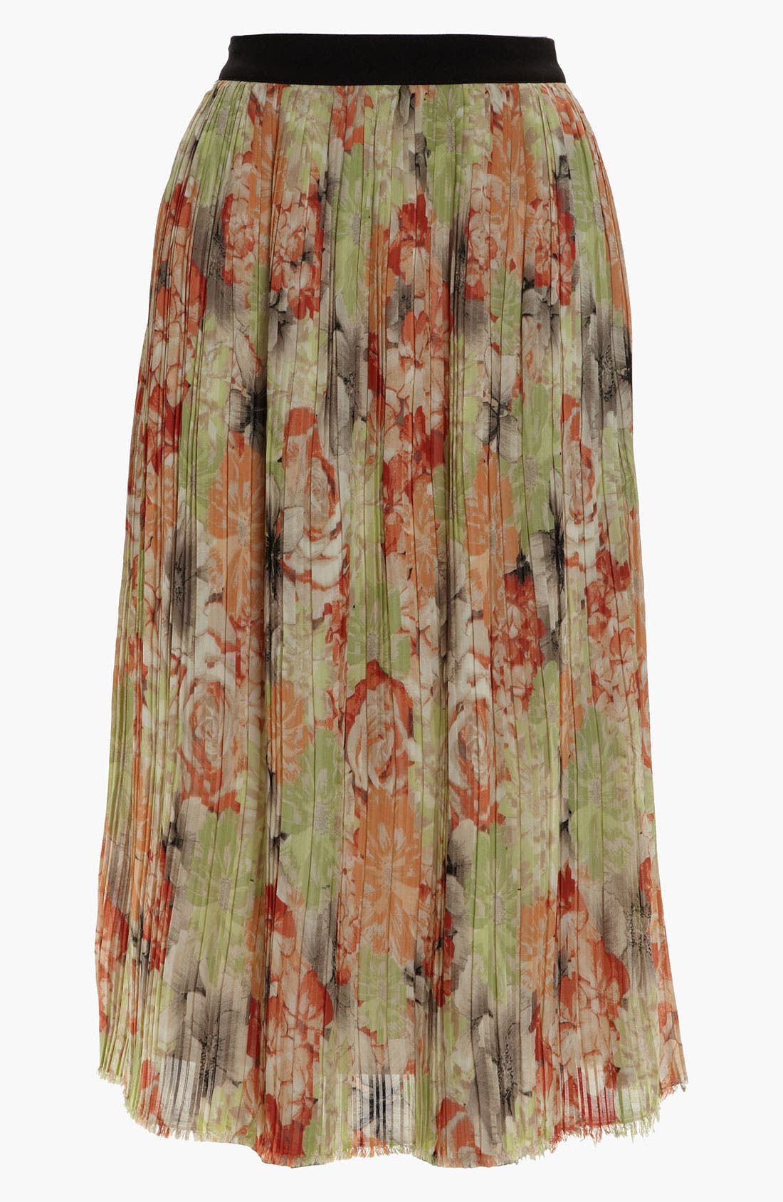 Alternate Image 1 Selected - Like Mynded Midi Floral Skirt